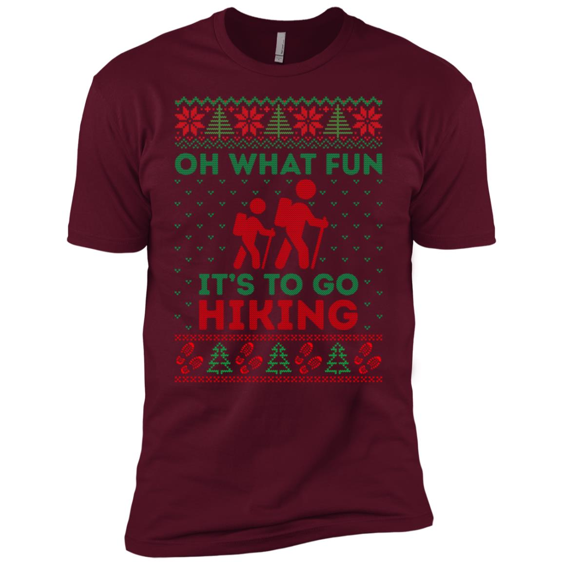 Oh What Fun Its To Hiking Christmas Ugly Sweater -5 Men Short Sleeve T-Shirt