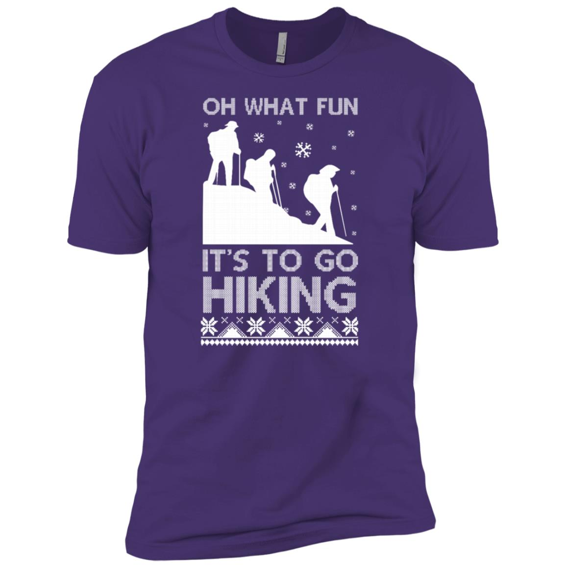 Oh What Fun Its To Hiking Christmas Ugly Sweater -4 Men Short Sleeve T-Shirt