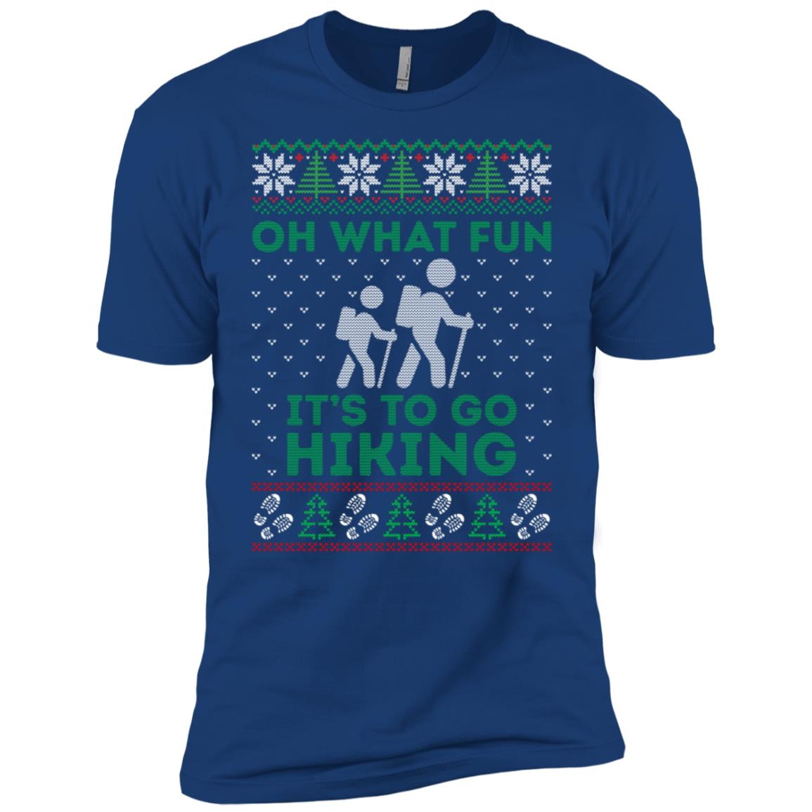 Oh What Fun Its To Hiking Christmas Ugly Sweater -2 Men Short Sleeve T-Shirt