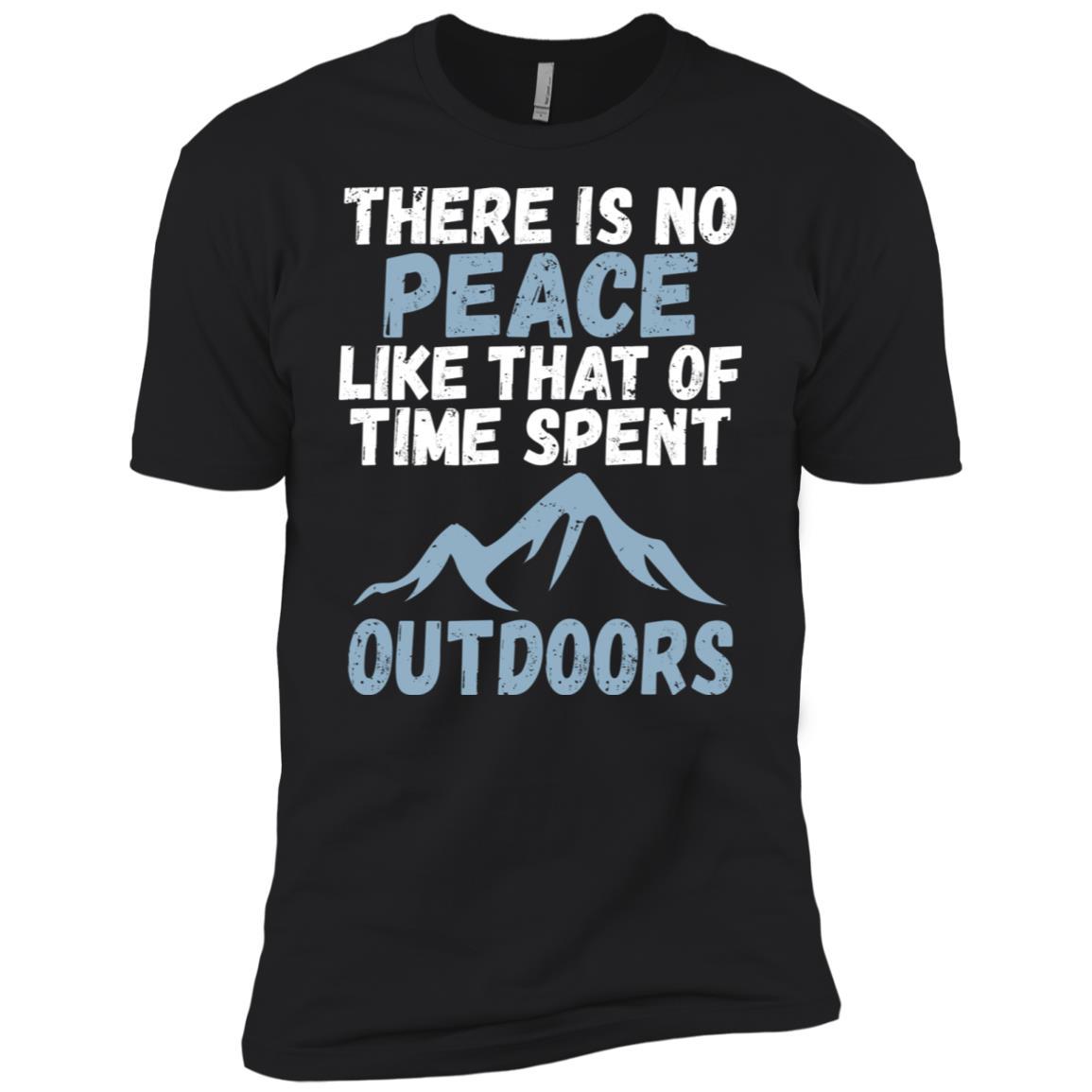 No Peace Like Time Spent Outdoors Hiking Men Short Sleeve T-Shirt