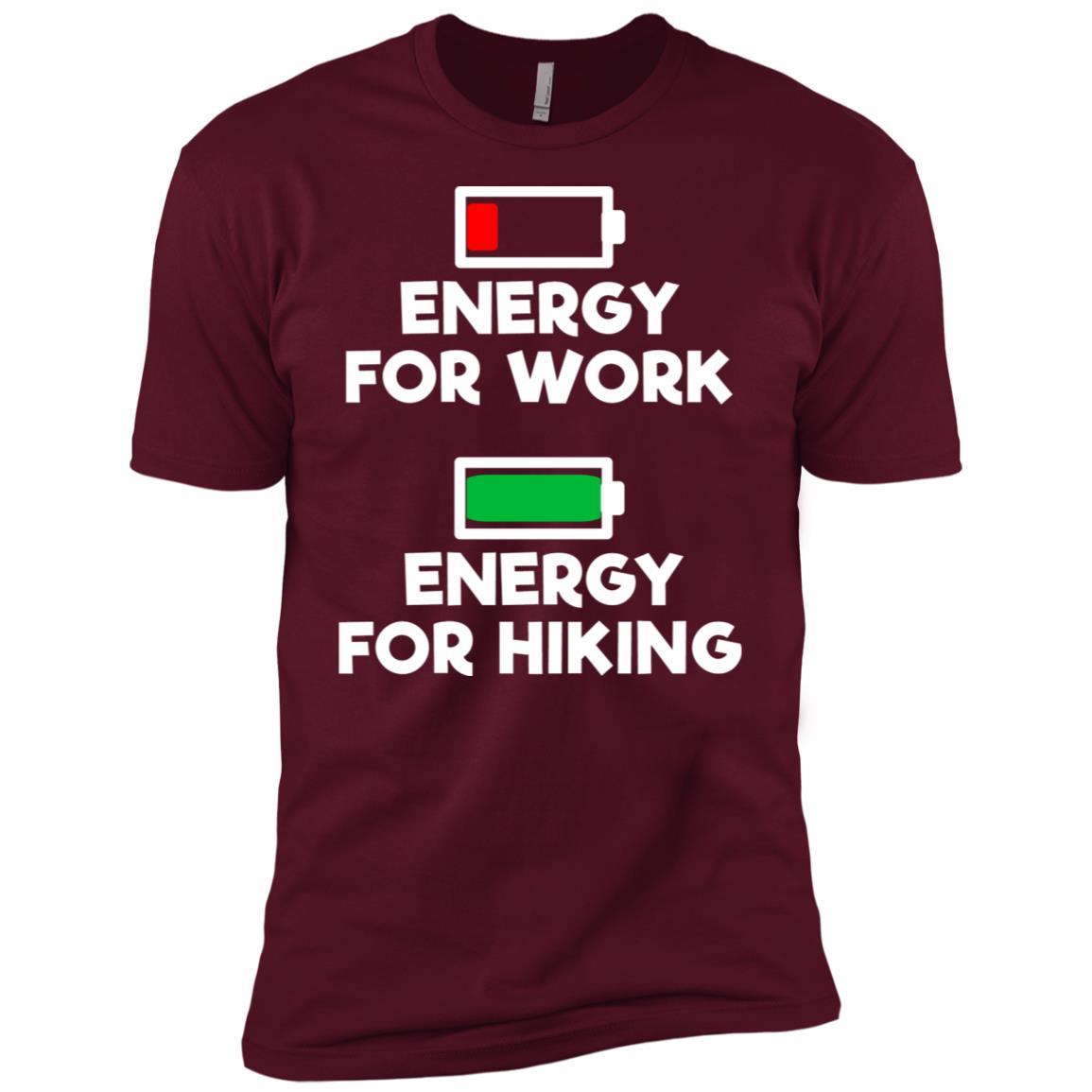 No Energy For Work Energy For Hiking Men Short Sleeve T-Shirt