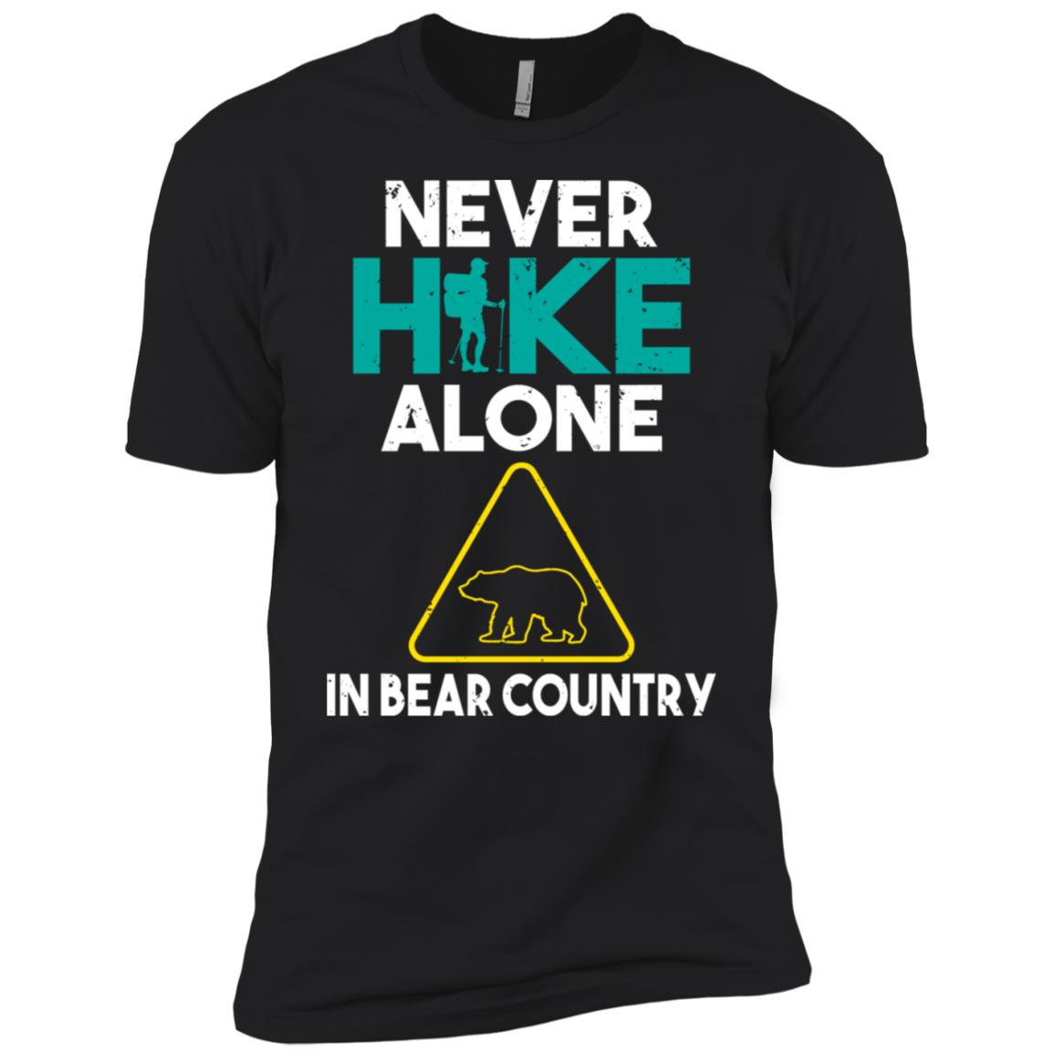 Never Hike Alone In Bear Country Men Short Sleeve T-Shirt