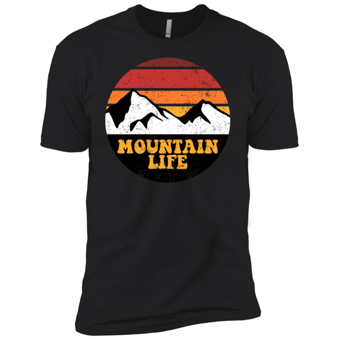 Mountain Life Keep it Simple Retro Hiking Camping Ls Tee Men Short Sleeve T-Shirt