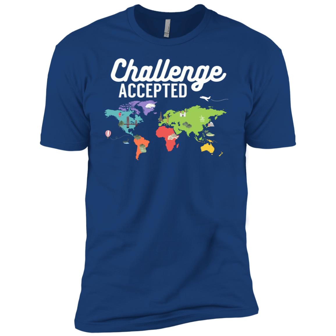 Love to Travel Challenge Accepted Travel Lovers Men Short Sleeve T-Shirt