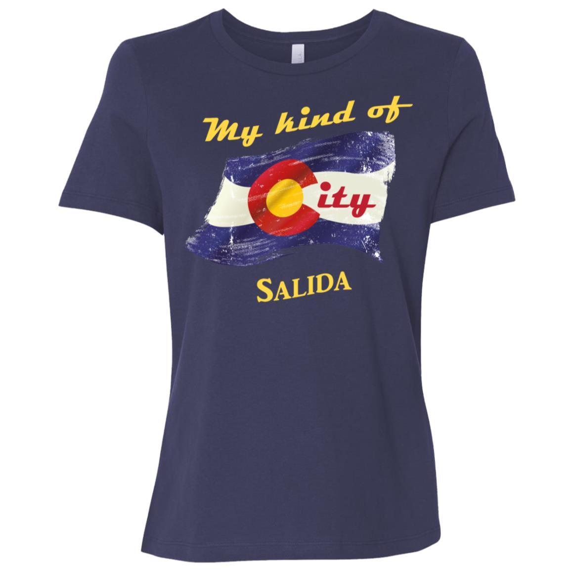 Salida Colorado Flag City Women Short Sleeve T-Shirt