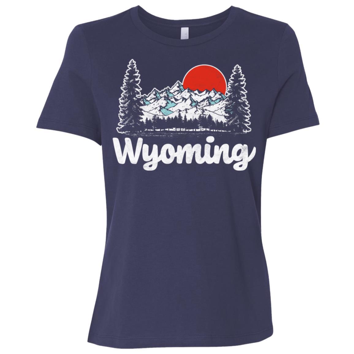 Retro Wyoming Outdoors 80's Mountain Women Short Sleeve T-Shirt