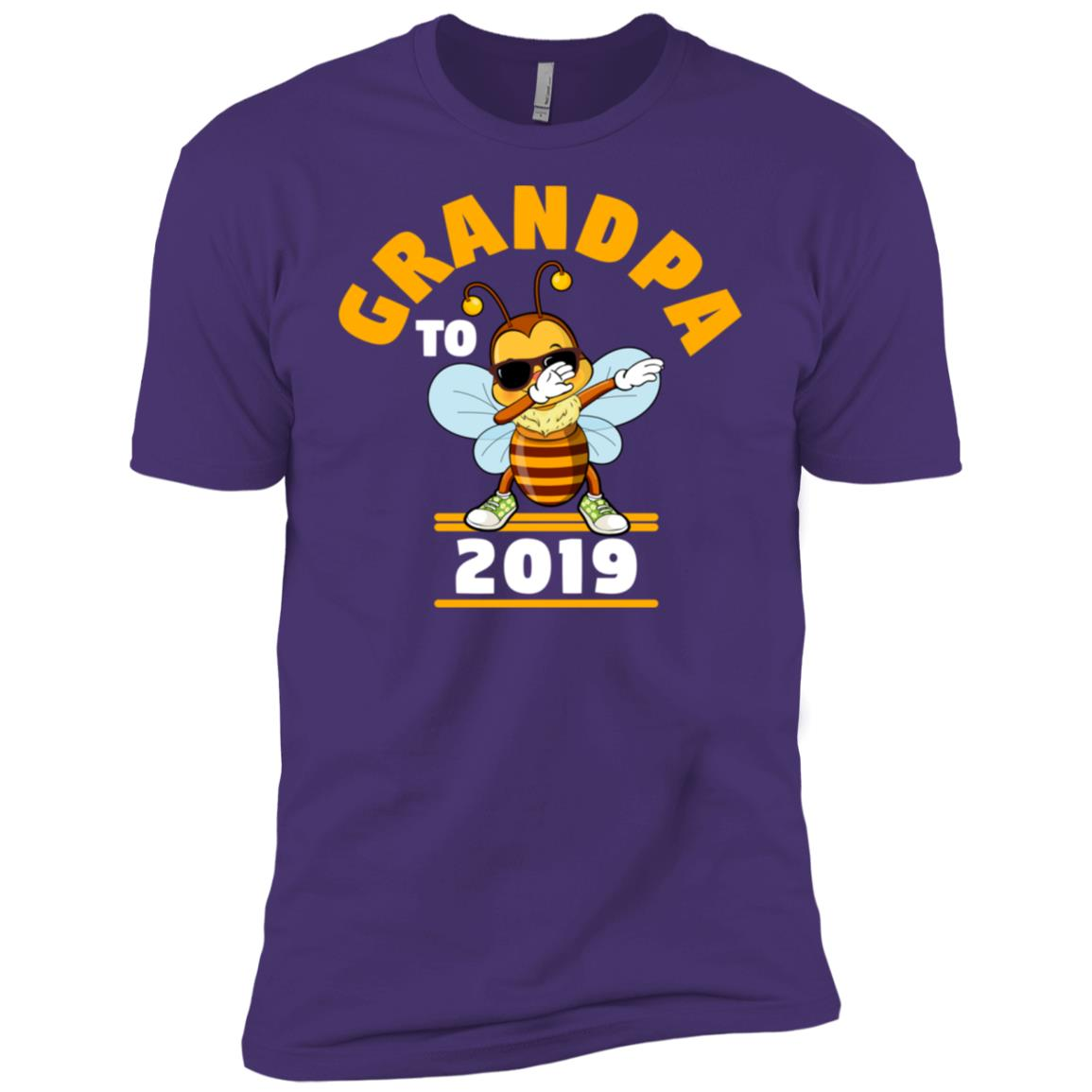 Grandpa To Be 2019 Dabbing Bee Men Short Sleeve T-Shirt