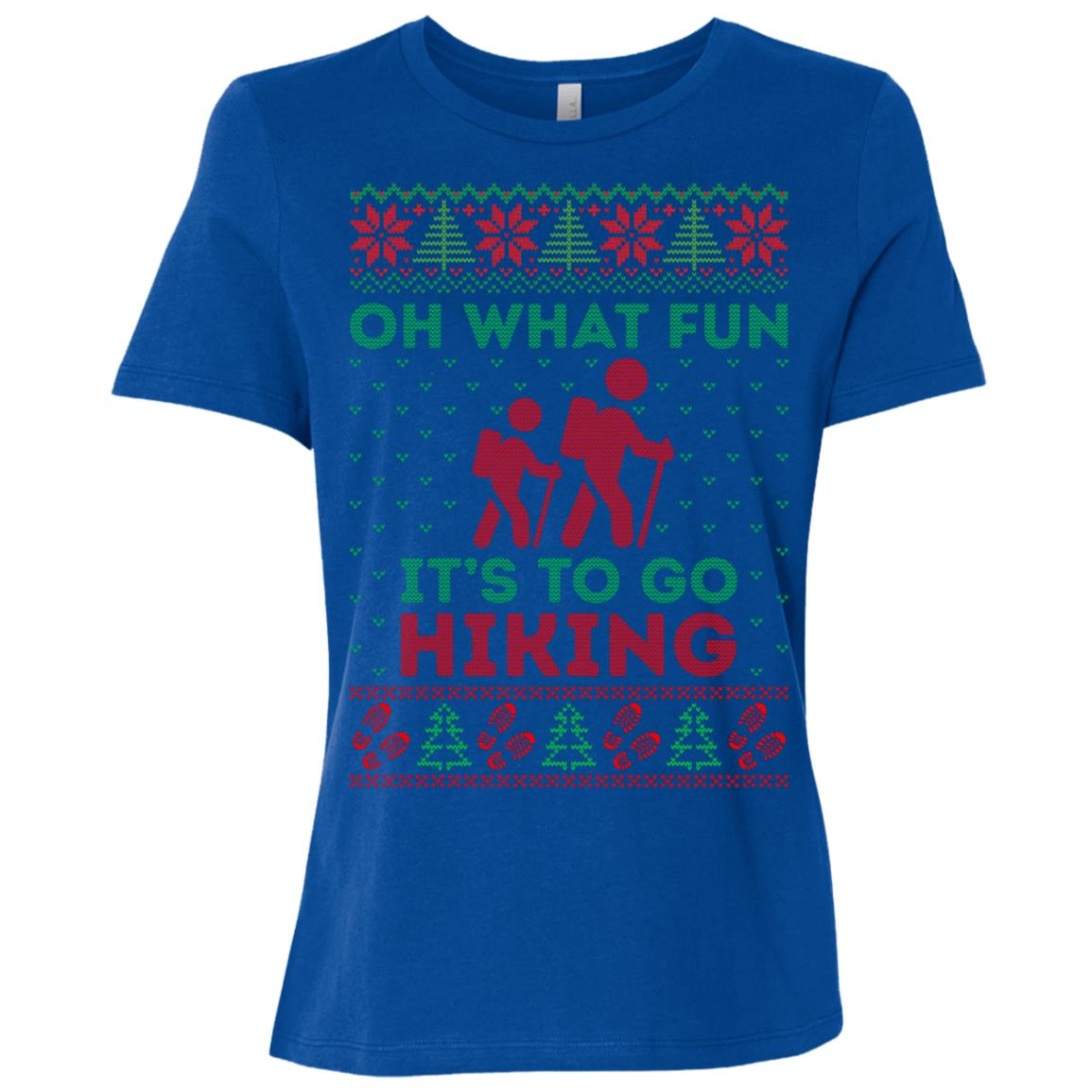 Oh What Fun Its To Hiking Christmas Ugly Sweater -5 Women Short Sleeve T-Shirt