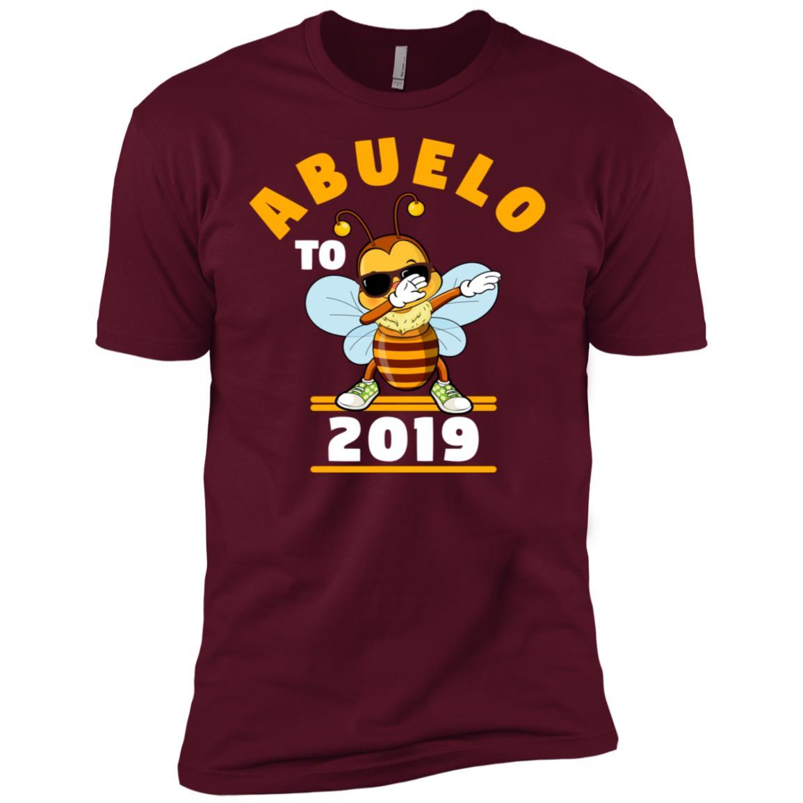 Grandpa To Be 2019 Abuelo Dabbing Bee Men Short Sleeve T-Shirt