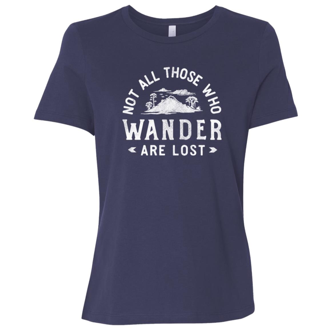 Not All Those Who Wander – Distressed Hiking Tee Women Short Sleeve T-Shirt