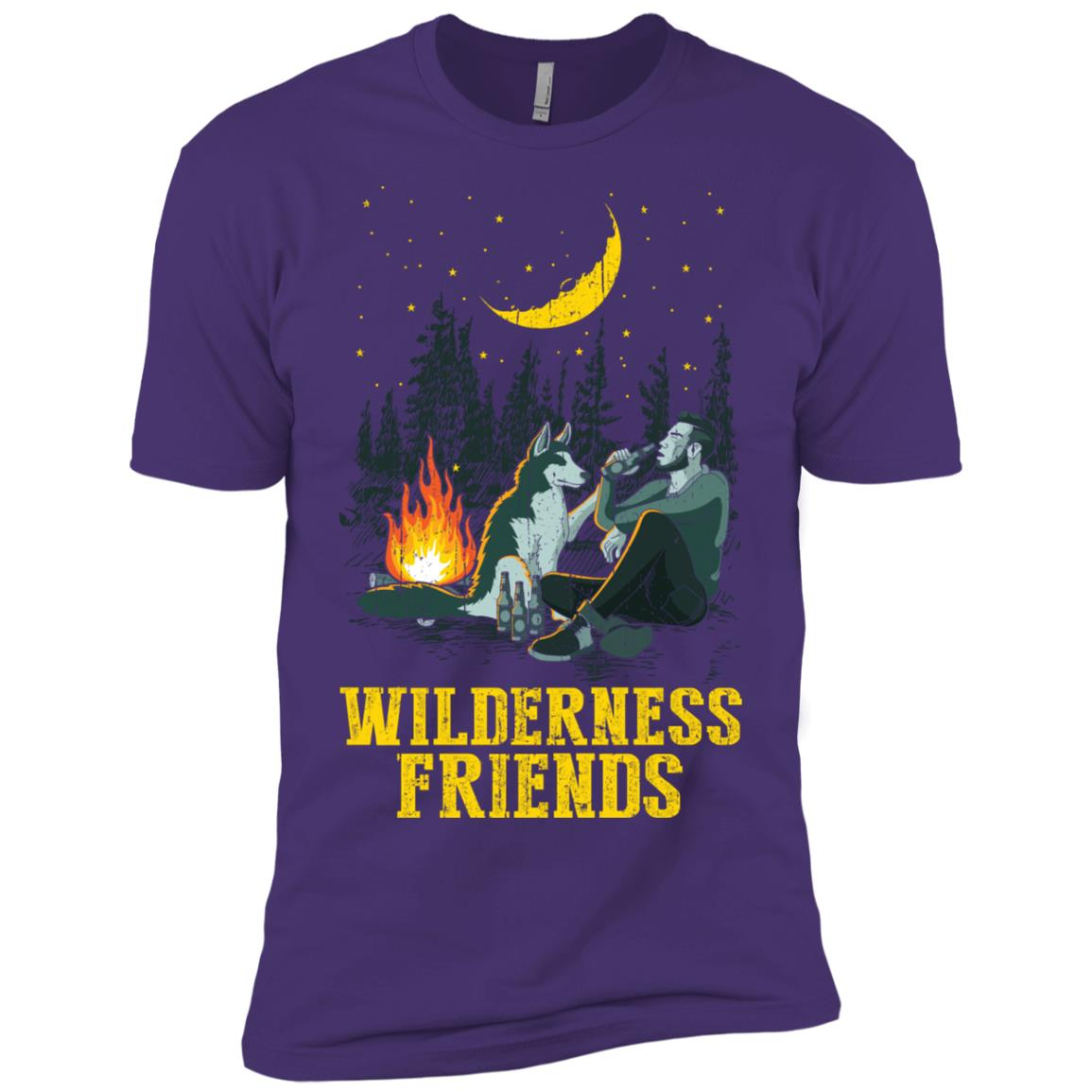 Wilderness Friends d Outdoor Explorer Dog Men Short Sleeve T-Shirt