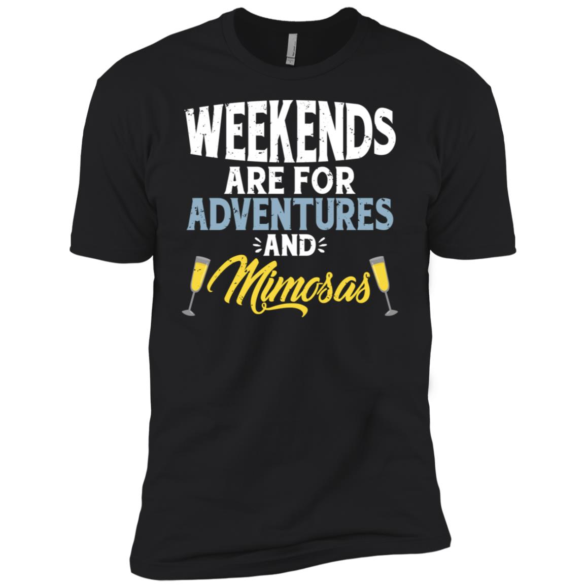 Weekends Are For Adventures And Mimosas Ls Champagne Men Short Sleeve T-Shirt