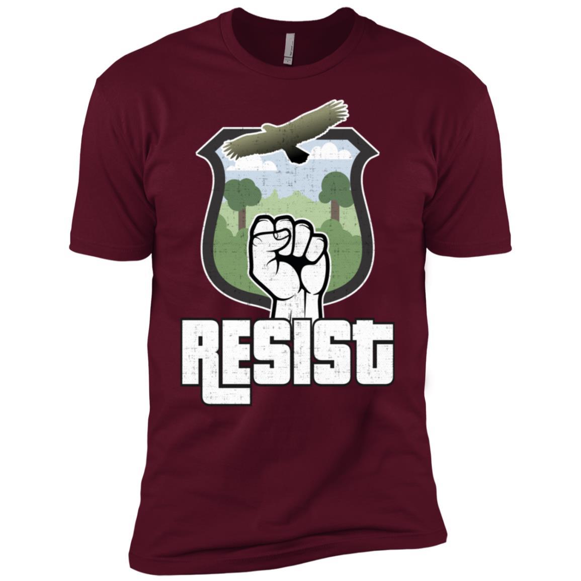 Us National Parks Resist Alt Us National Parks Hawk Men Short Sleeve T-Shirt