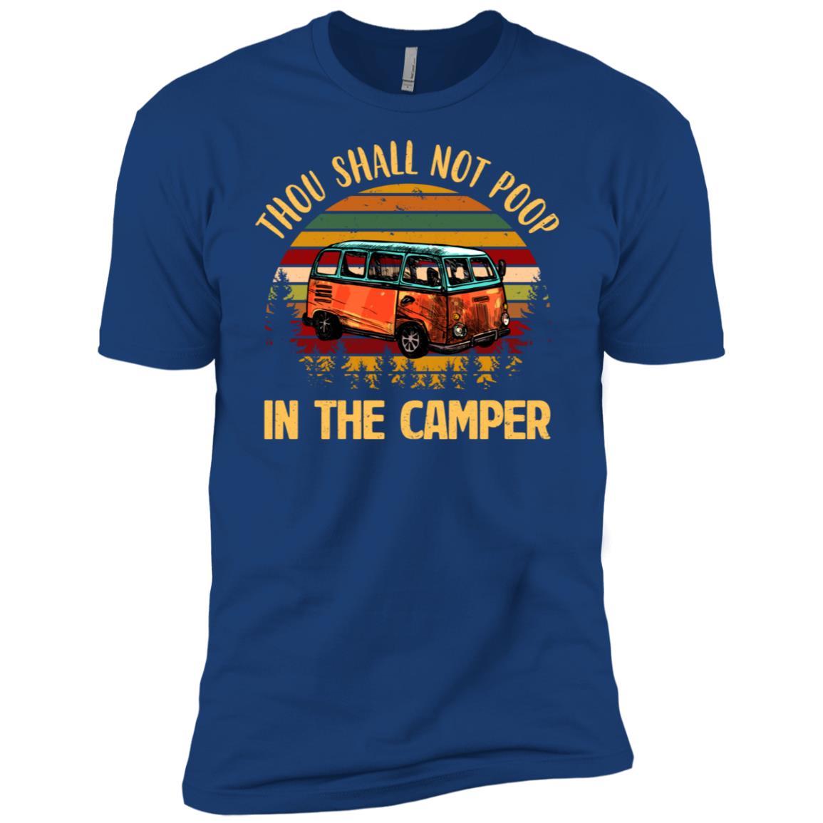 Thou Shall Not Poop In The Camper Vintage Men Short Sleeve T-Shirt