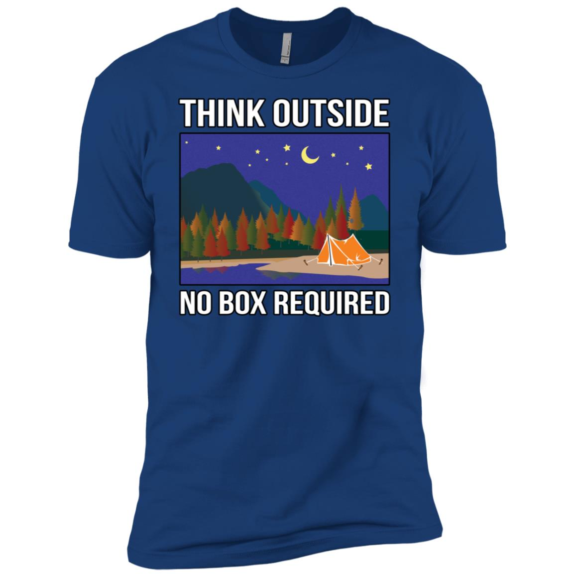 Think Outside No Box Required Camping Men Short Sleeve T-Shirt