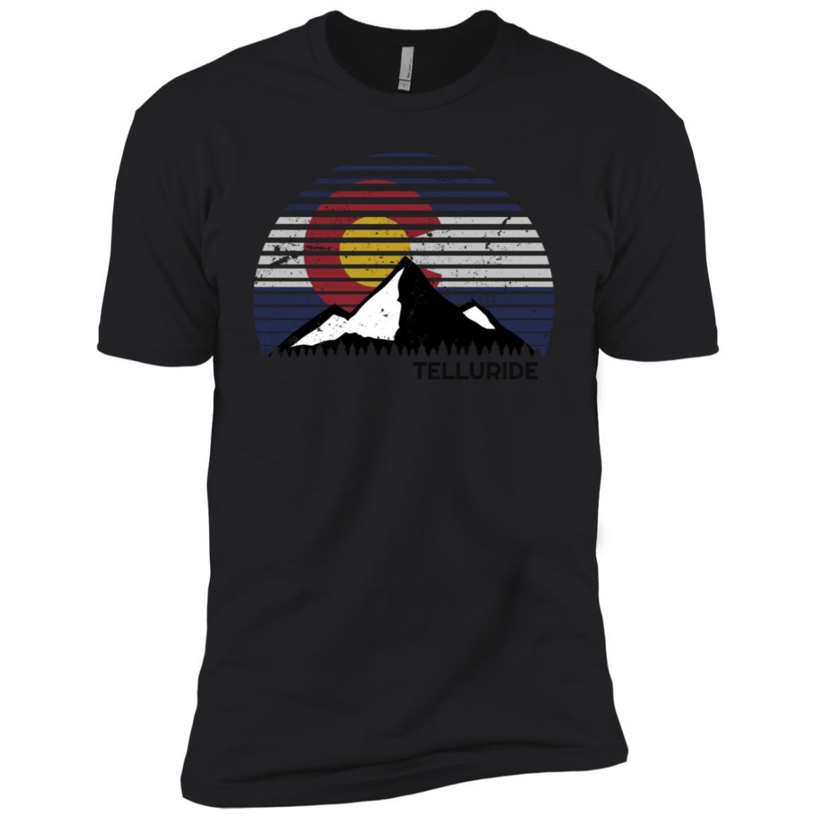 Telluride, Colorado x Co Flag Mtn Top Men Short Sleeve T-Shirt