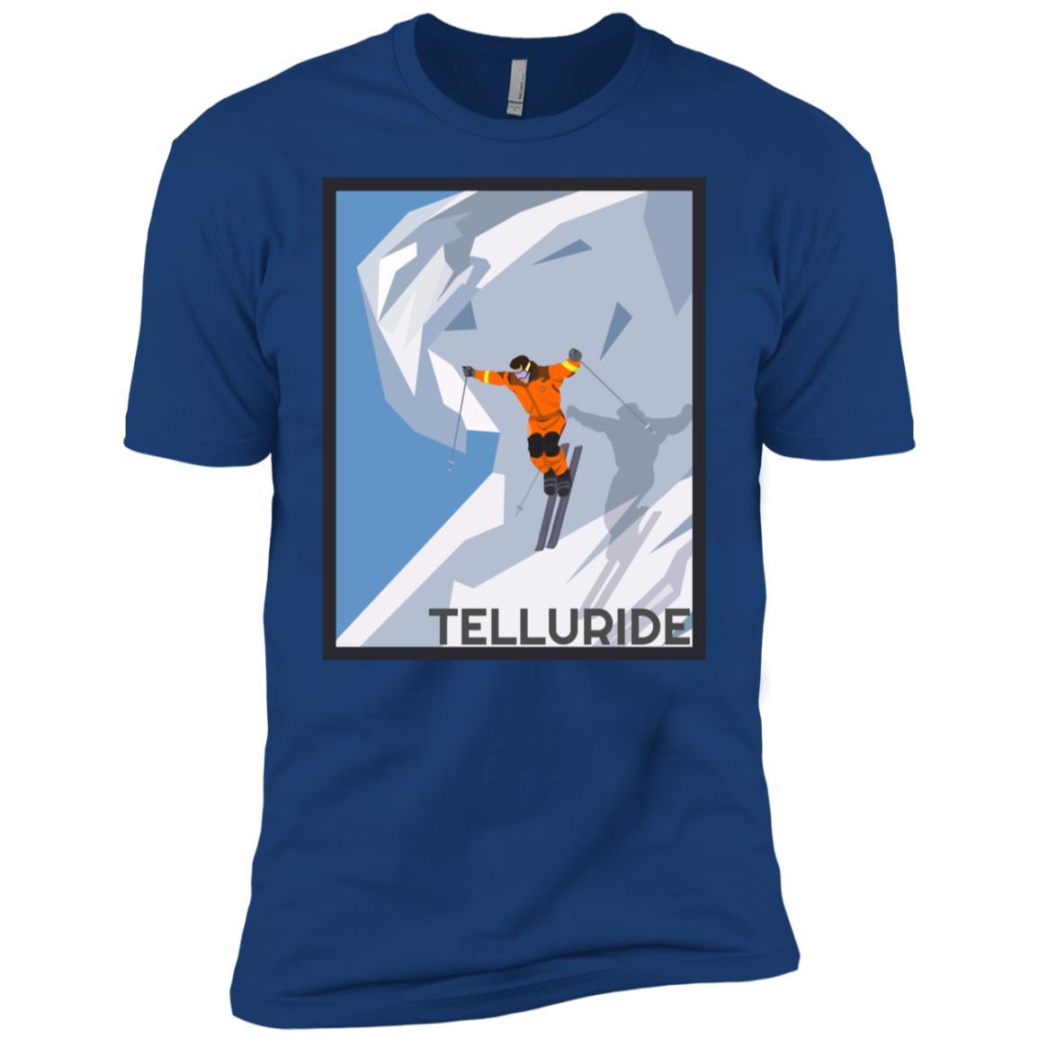 Telluride, Colorado Vintage Ski Poster Men Short Sleeve T-Shirt