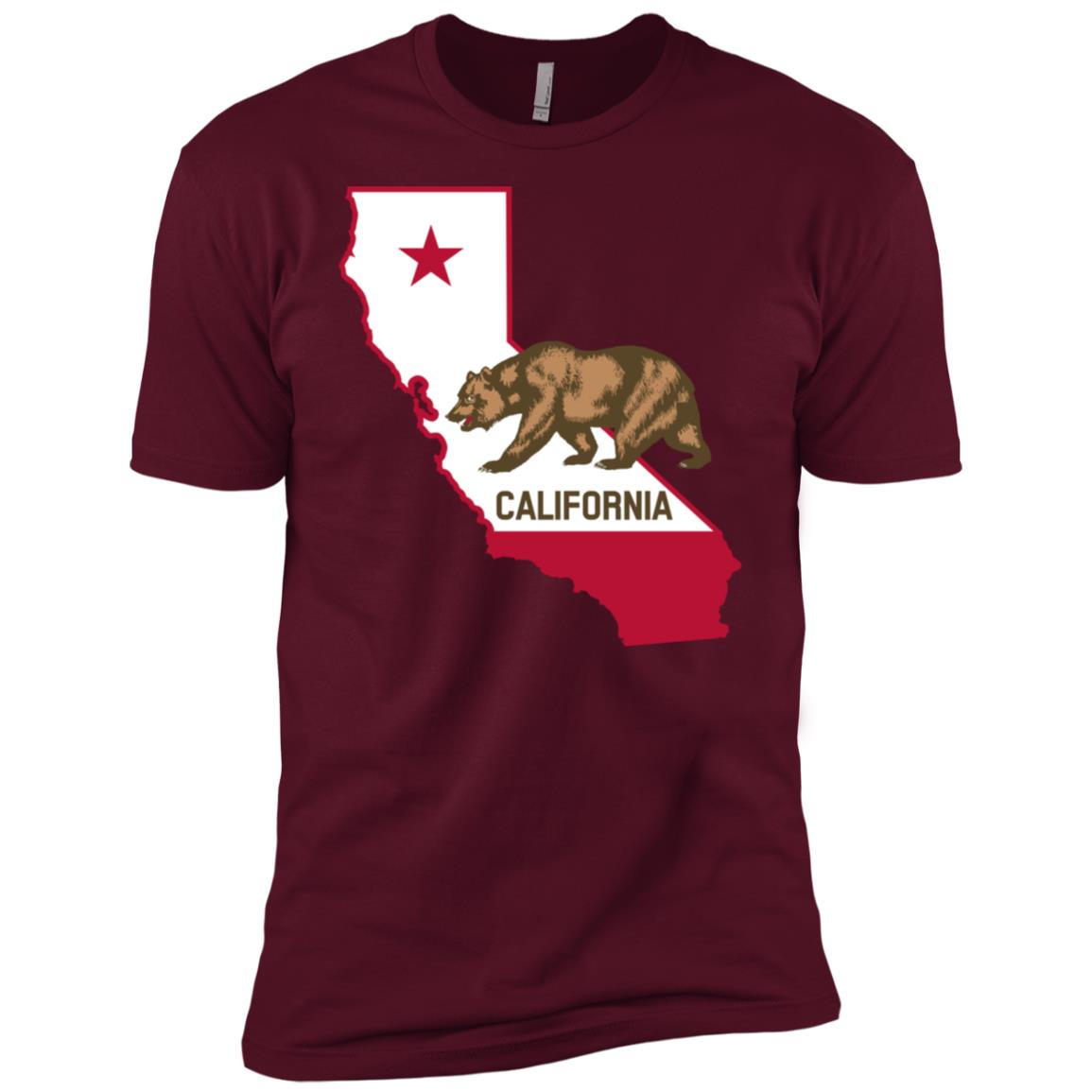 State of California Grizzly Bear Flag Men Short Sleeve T-Shirt