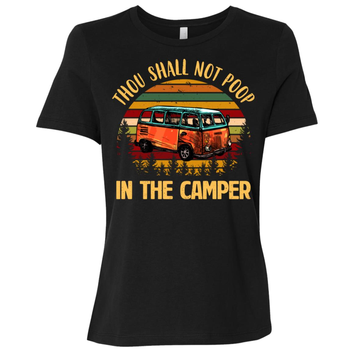 Thou Shall Not Poop In The Camper Vintage Women Short Sleeve T-Shirt