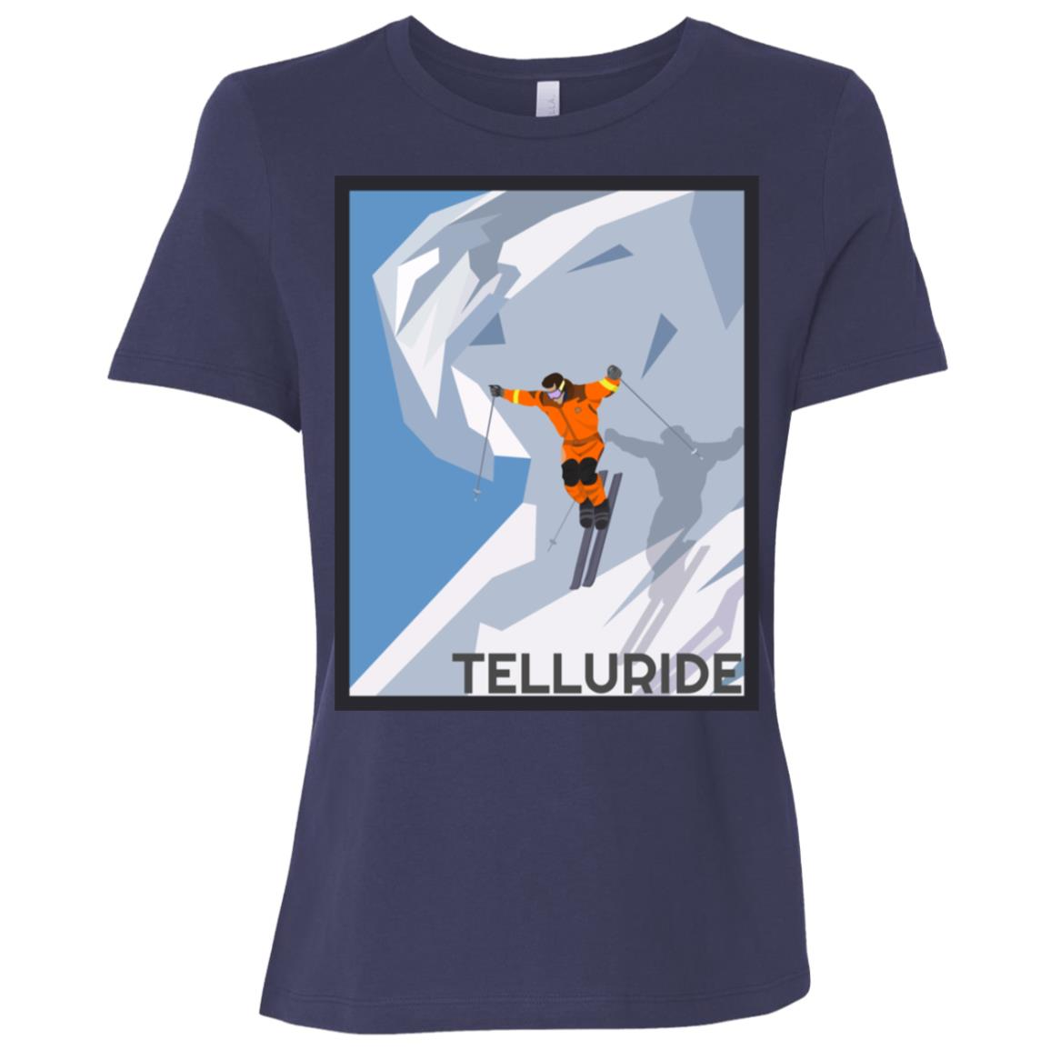 Telluride, Colorado Vintage Ski Poster Women Short Sleeve T-Shirt