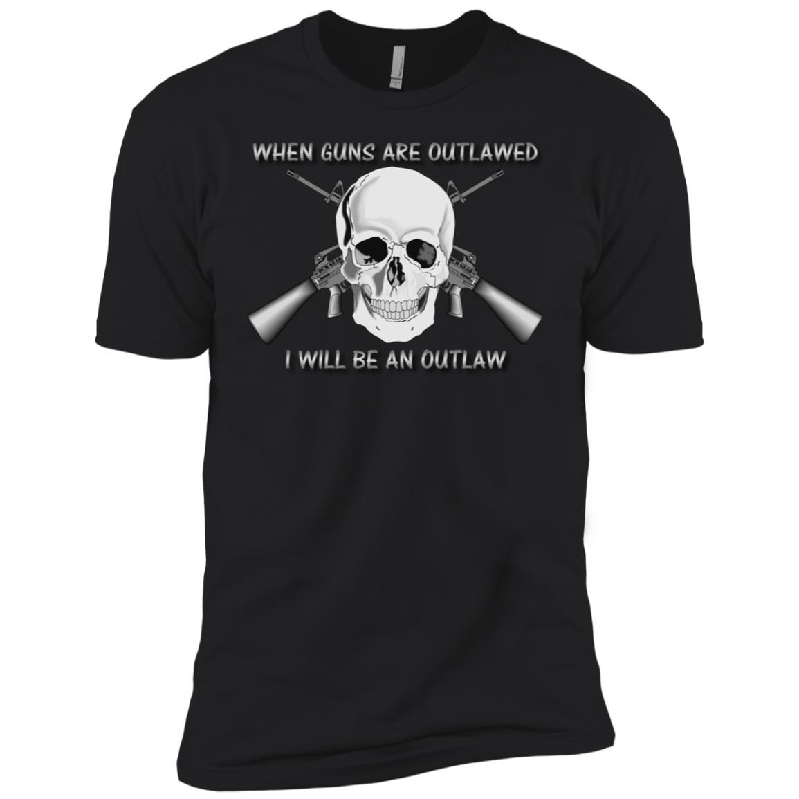 When Guns Are Outlawed I Will Be An Outlaw Ar15 Skull Rifle Men Short Sleeve T-Shirt