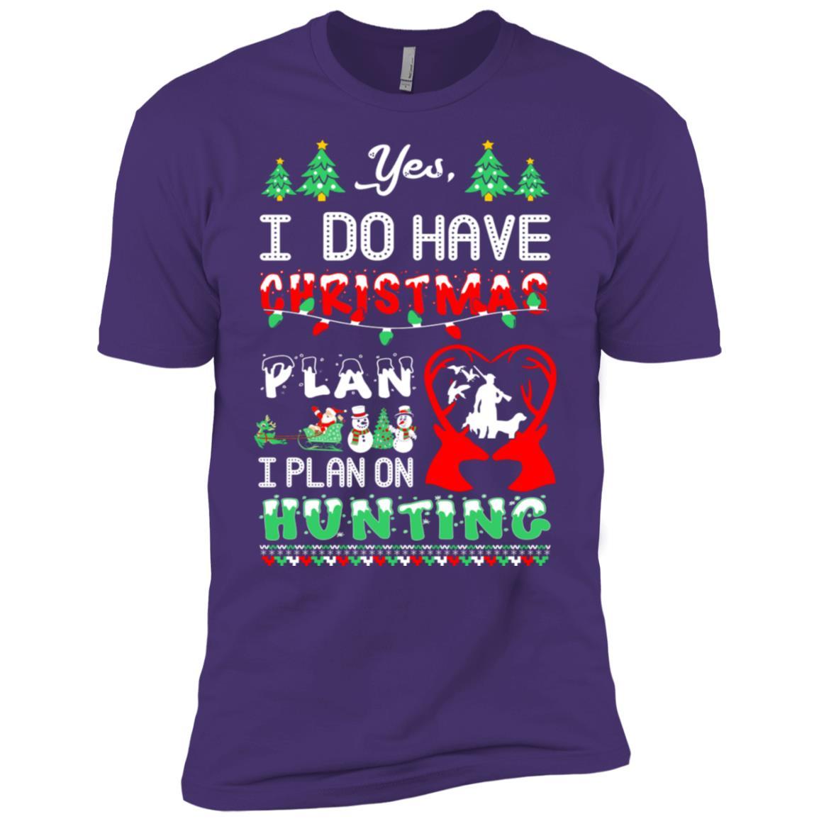 I Do Have Christmas Plan I Plan On Hunting Gift Men Short Sleeve T-Shirt