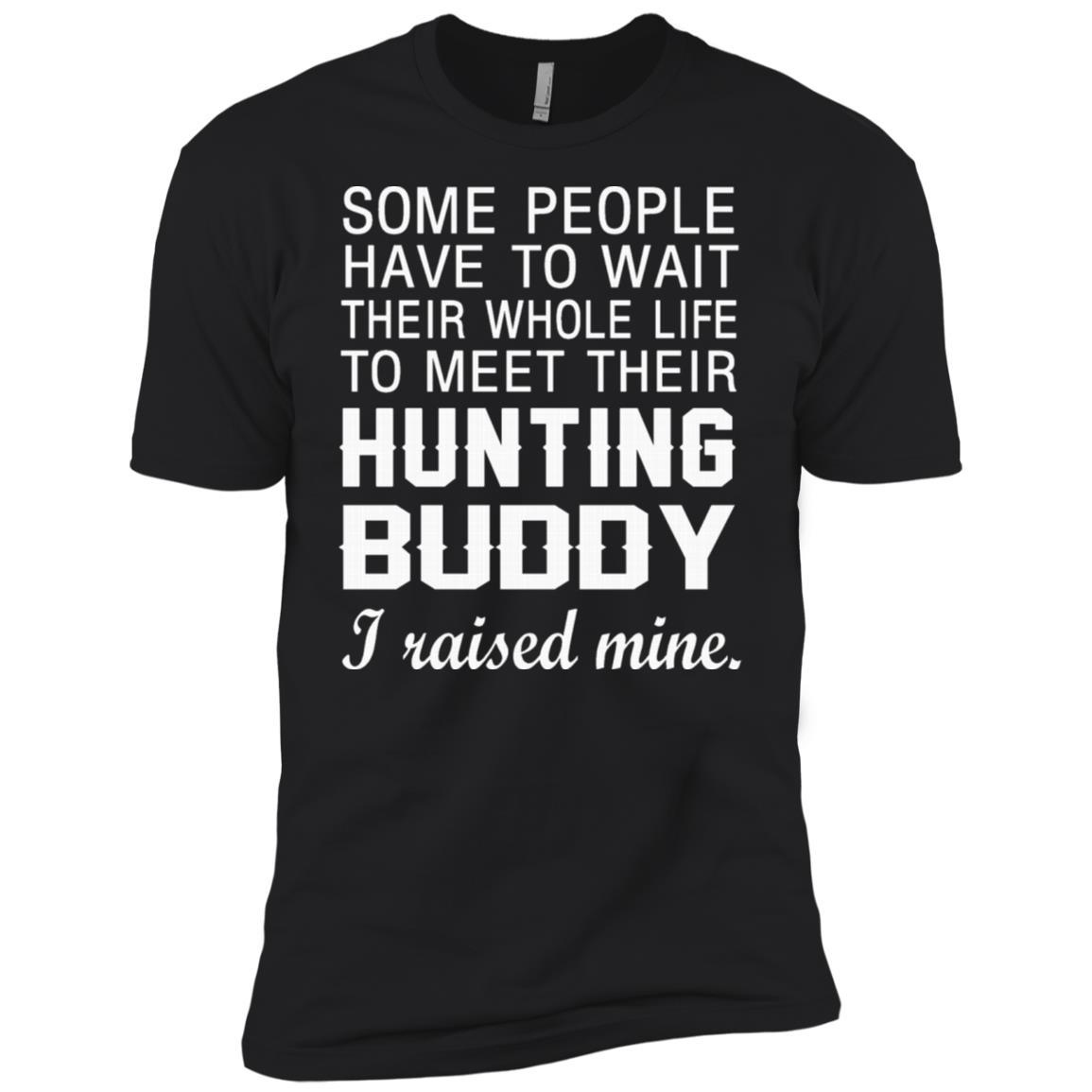 Hunting Dad I Raised My Hunting Buddy Men Short Sleeve T-Shirt