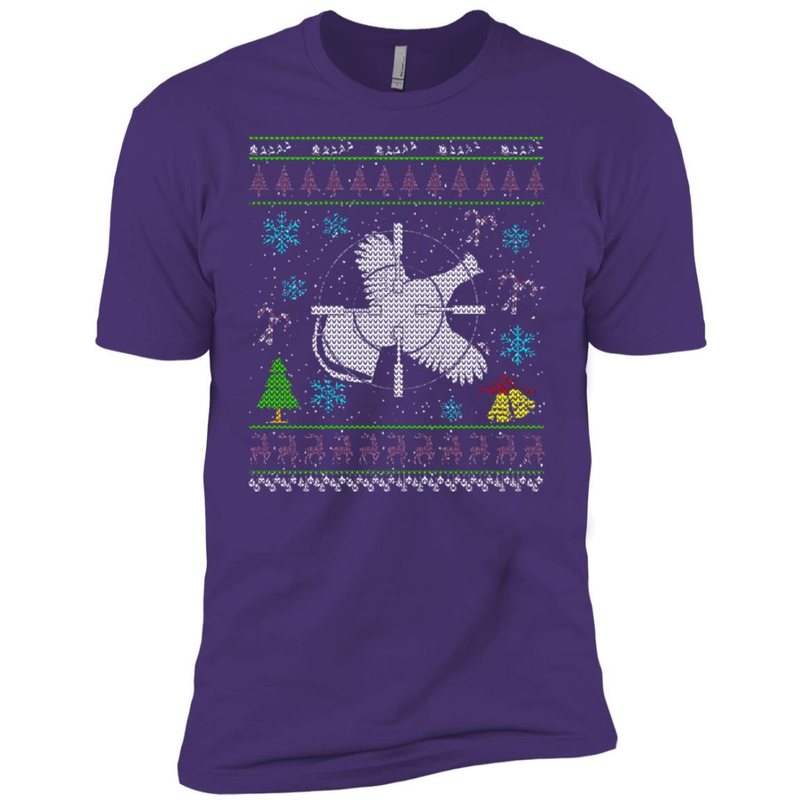 Grouse Hunting Chrismas Ugly Holiday Men Short Sleeve T-Shirt