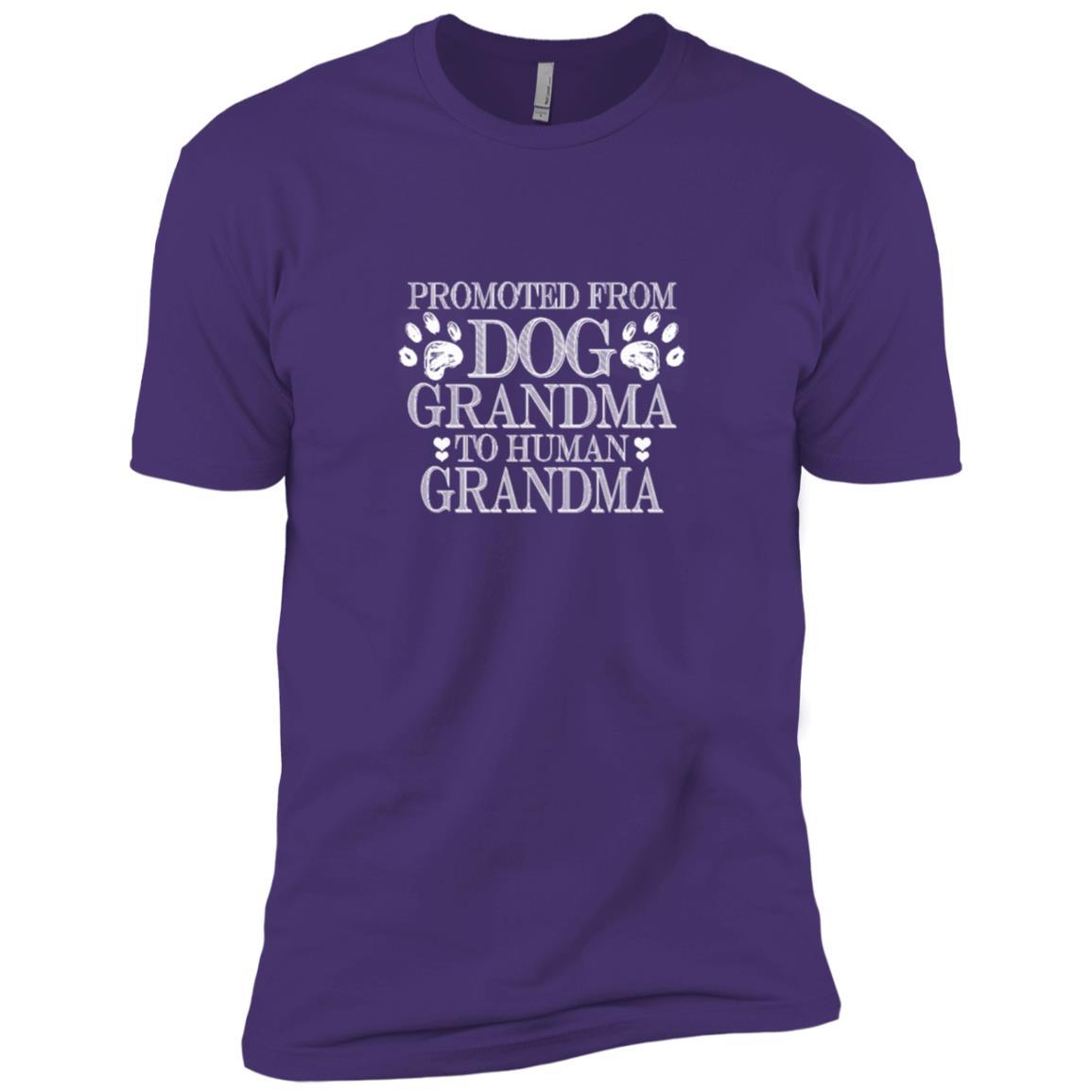 Funny Promoted From Dog Grandma To Human Grandma Men Short Sleeve T-Shirt