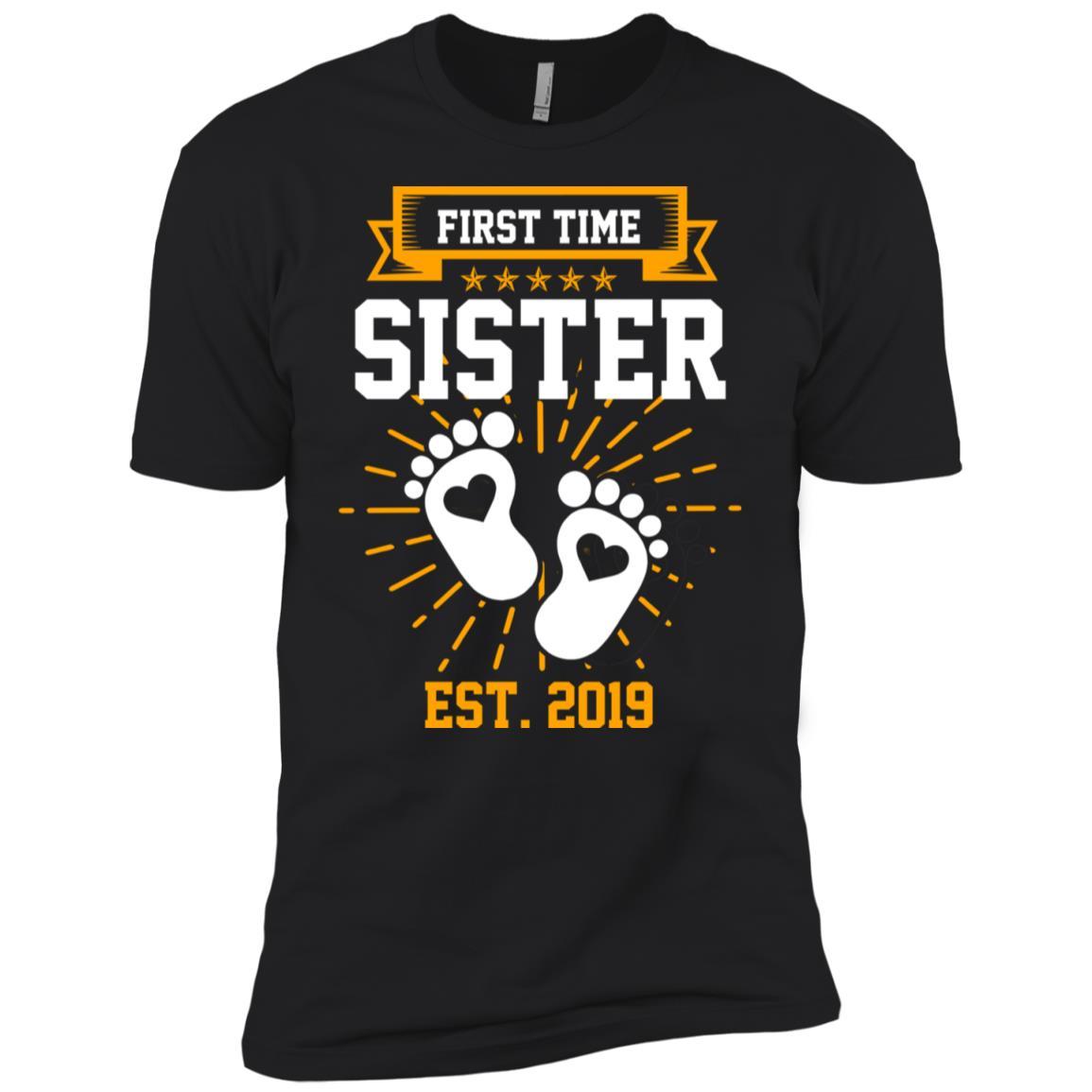 First Time Sister Est 2019 Gift Men Short Sleeve T-Shirt