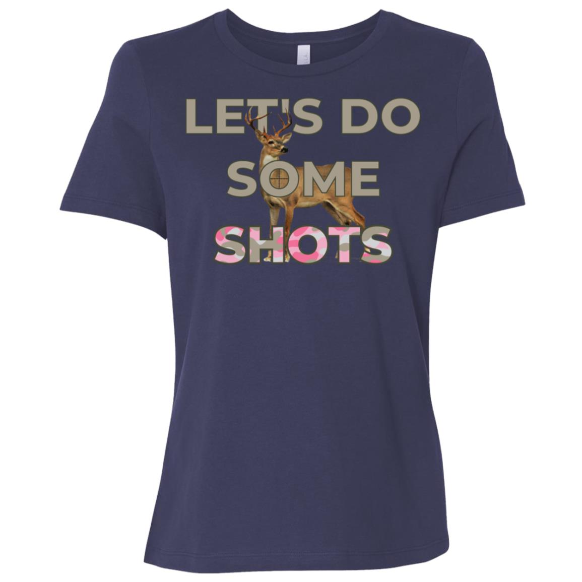 Let's Do Some Shots Deer Hunting Pun Women Short Sleeve T-Shirt