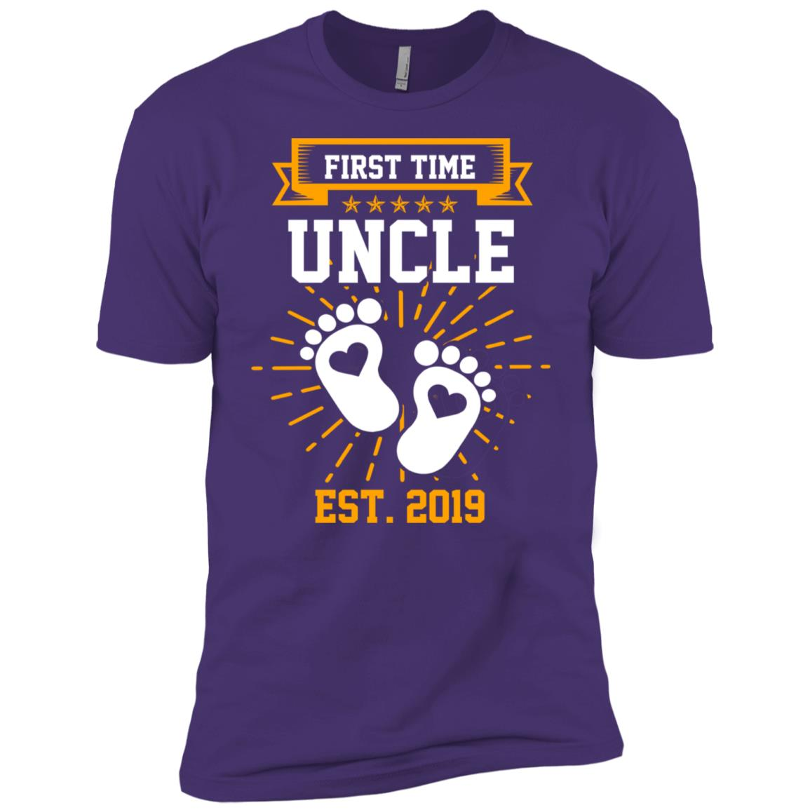 First Time Uncle Est 2019 Gift Men Short Sleeve T-Shirt