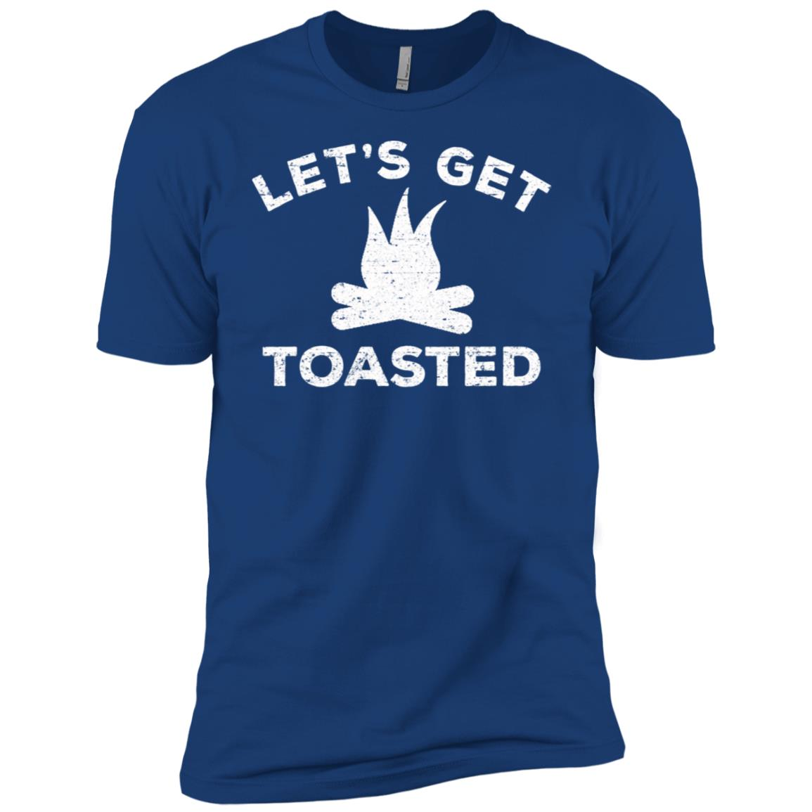 Camping Let's Get Toasted Funny Camping Gifts-1 Men Short Sleeve T-Shirt
