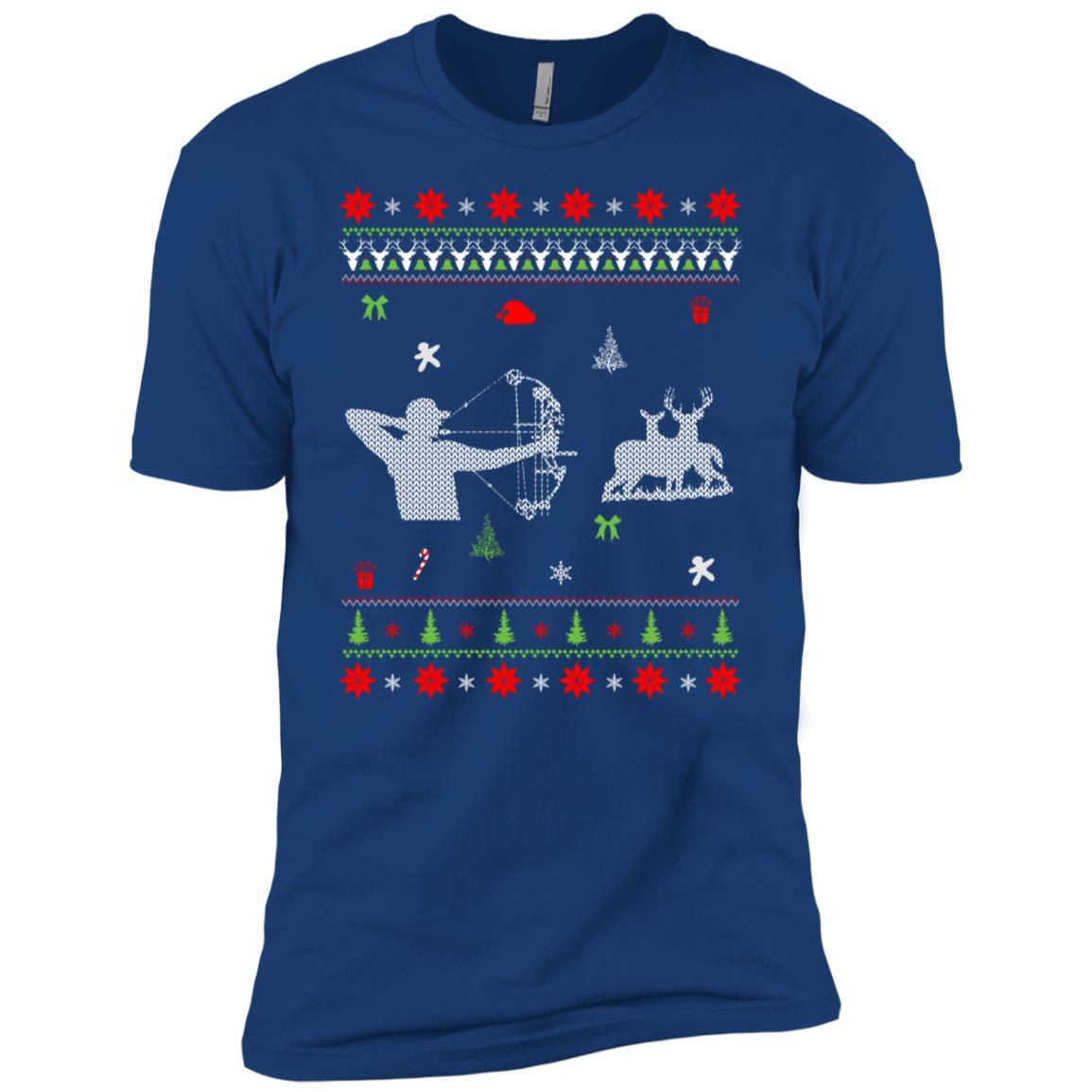 Bow Hunting Christmas Christmas Best Gift For Hunter Men Short Sleeve T-Shirt