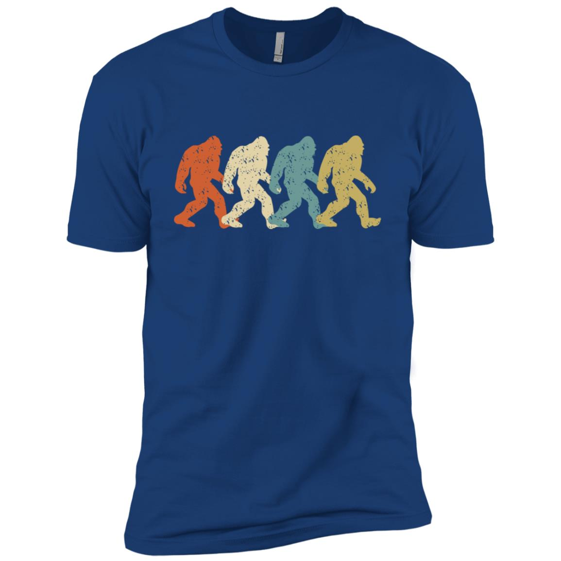 Bigfoot Silhouette Retro Cute Vintage Yeti Tee Gift Men Short Sleeve T-Shirt
