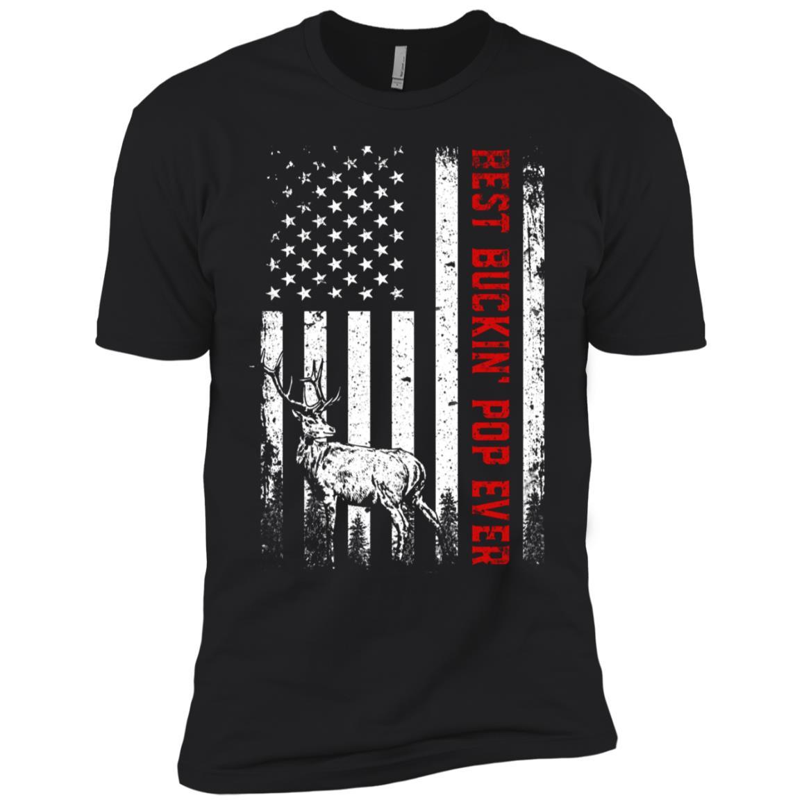 Best Buckin' Pop Ever Deer Hunting Father's Day Gift Men Short Sleeve T-Shirt