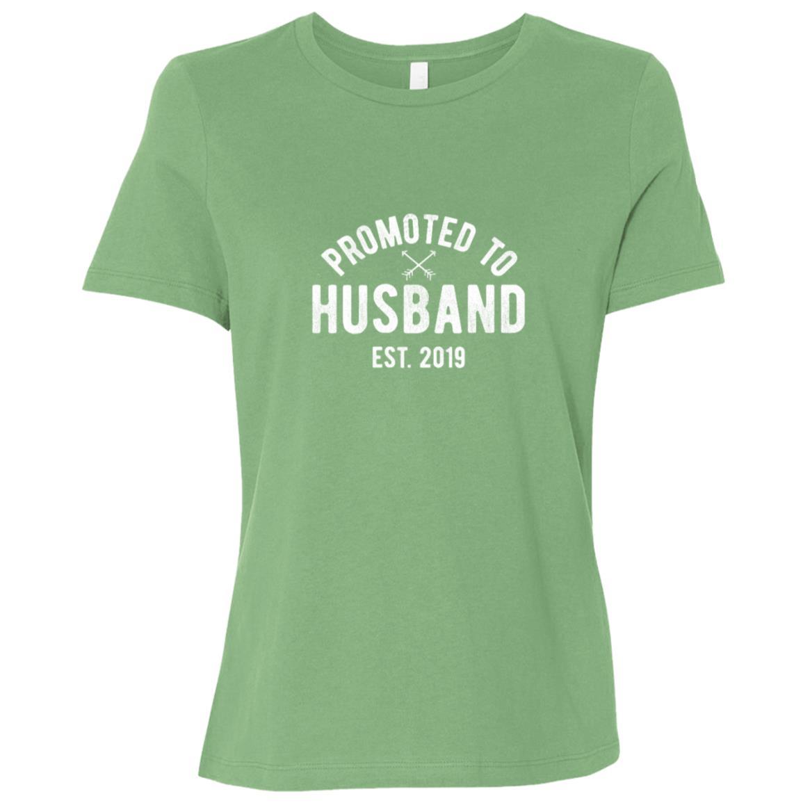 New Husband 2019 Getting Married Groom Gift Tee Women Short Sleeve T-Shirt