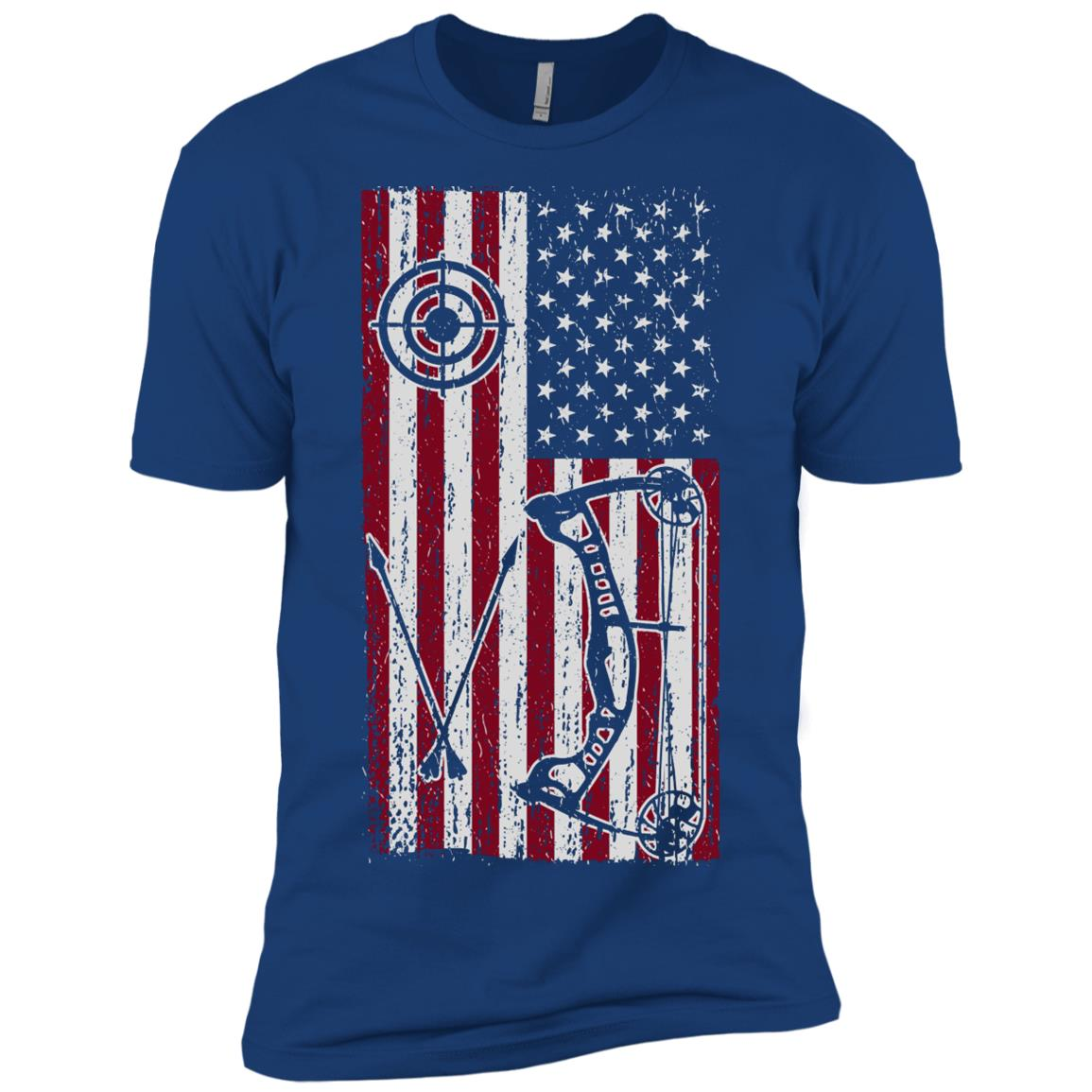 American Bow Hunter Us Flag Bow Hunting Men Short Sleeve T-Shirt