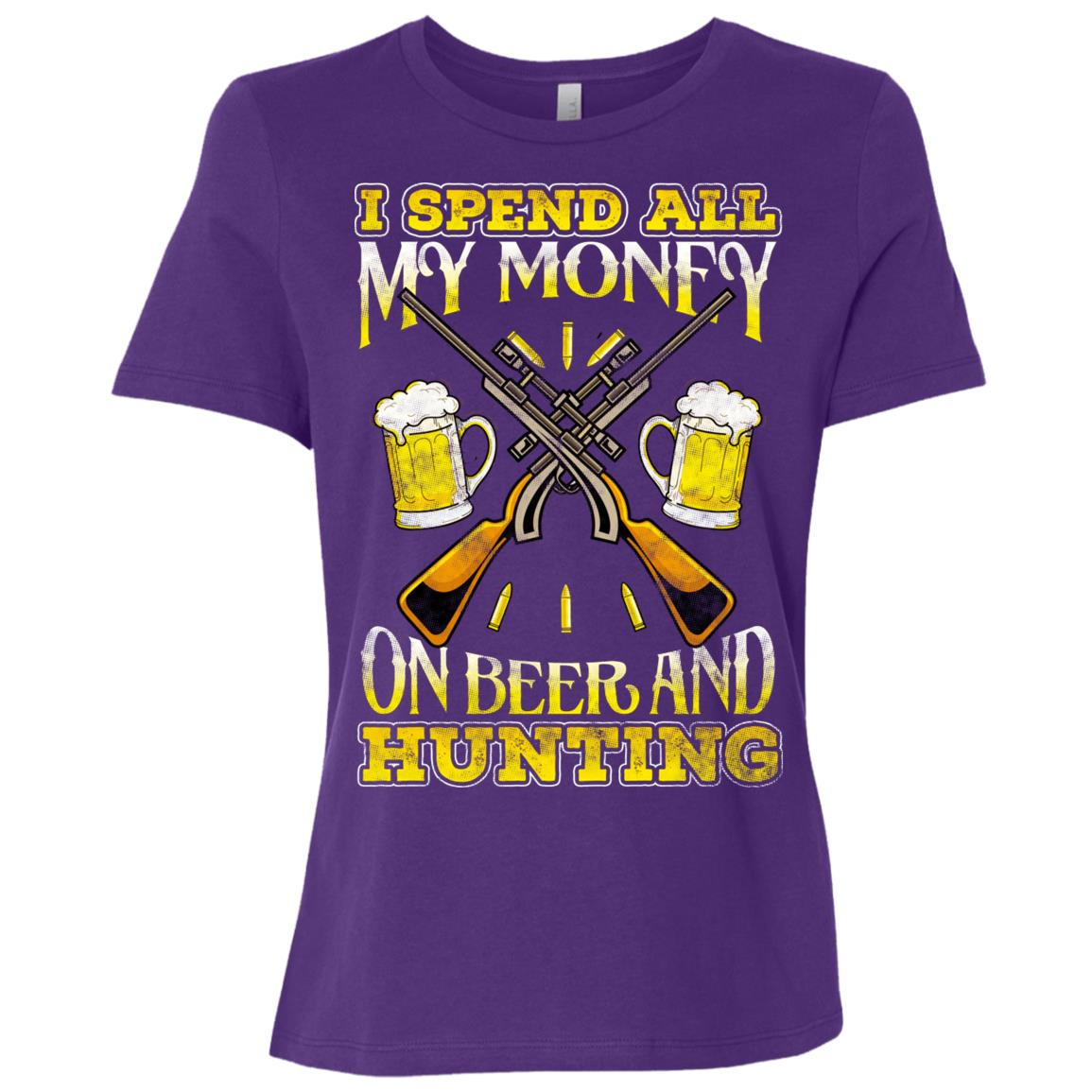 Beer Hunter – Funny Hunting Beer Gifts Women Short Sleeve T-Shirt