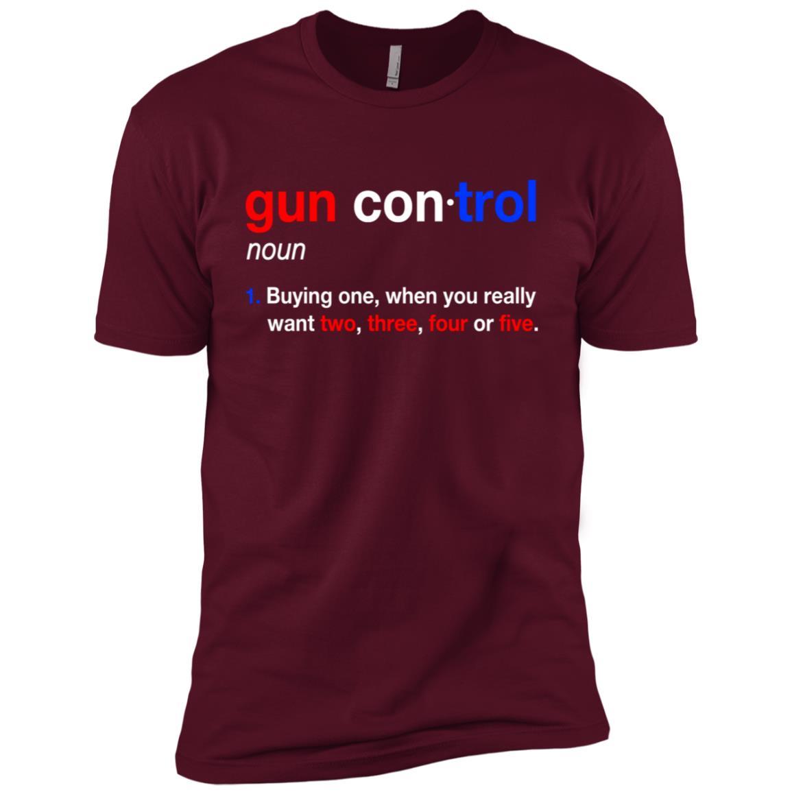 Gun Control Gun Control Definition – Funny Gun-1 Men Short Sleeve T-Shirt