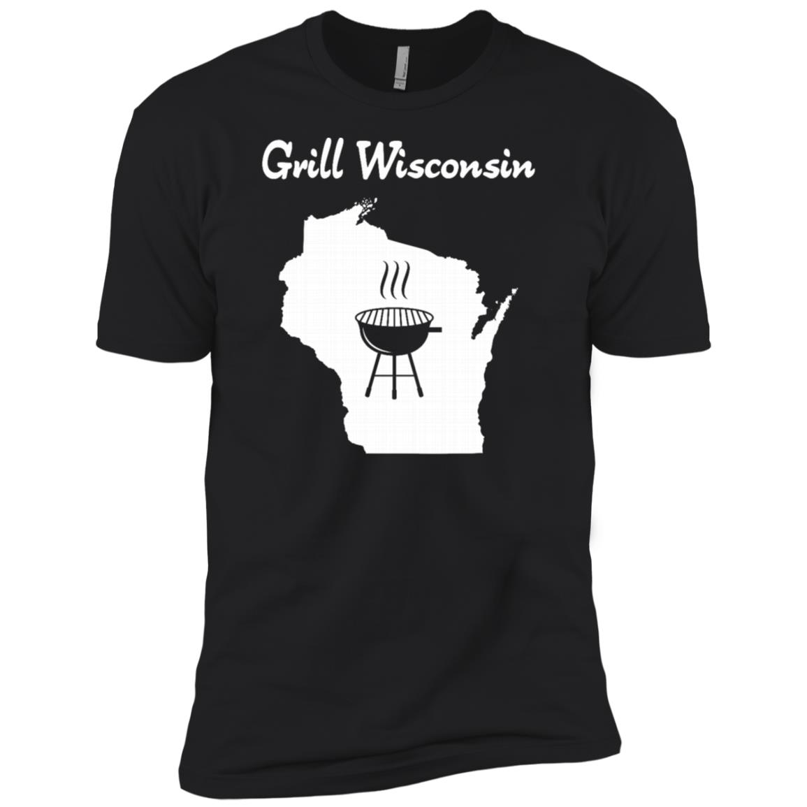Grill Wisconsin awesome sconnie beer brat grilling Men Short Sleeve T-Shirt