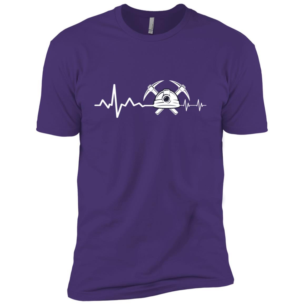 Geologist Heart Beat Hammer Rock Lover Gift Men Short Sleeve T-Shirt