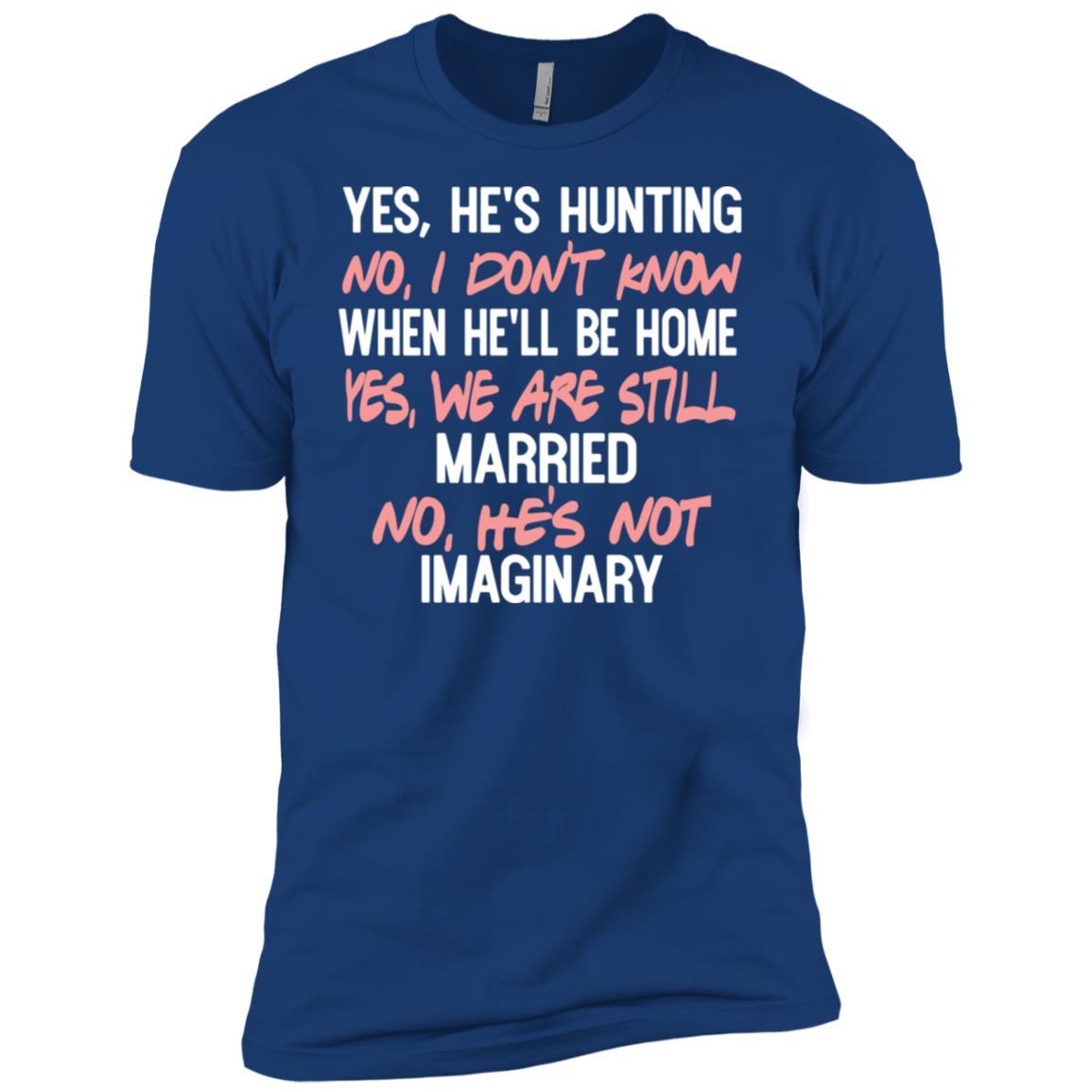 Funny Hunters Wife Buck Head on Back Gift Men Short Sleeve T-Shirt