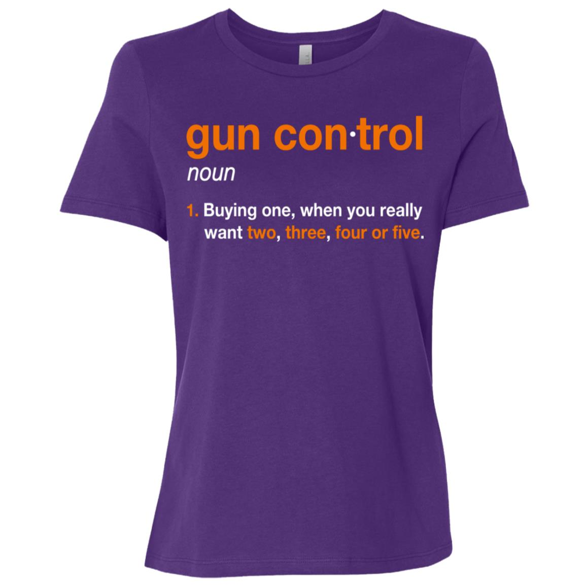 Gun Control Gun Control Definition – Funny Gun Women Short Sleeve T-Shirt