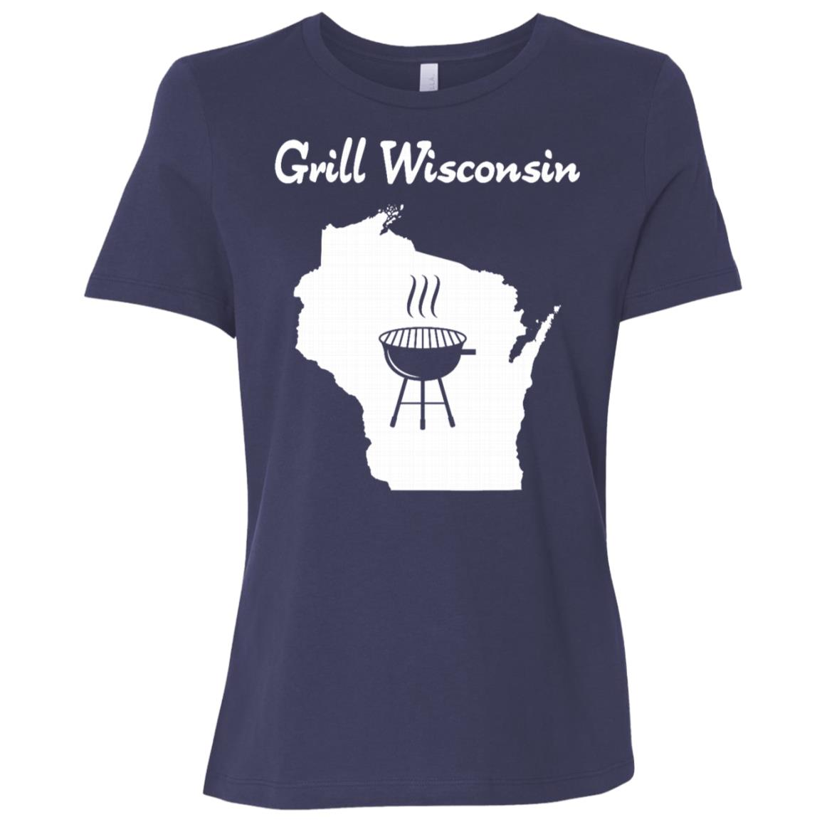 Grill Wisconsin awesome sconnie beer brat grilling Women Short Sleeve T-Shirt