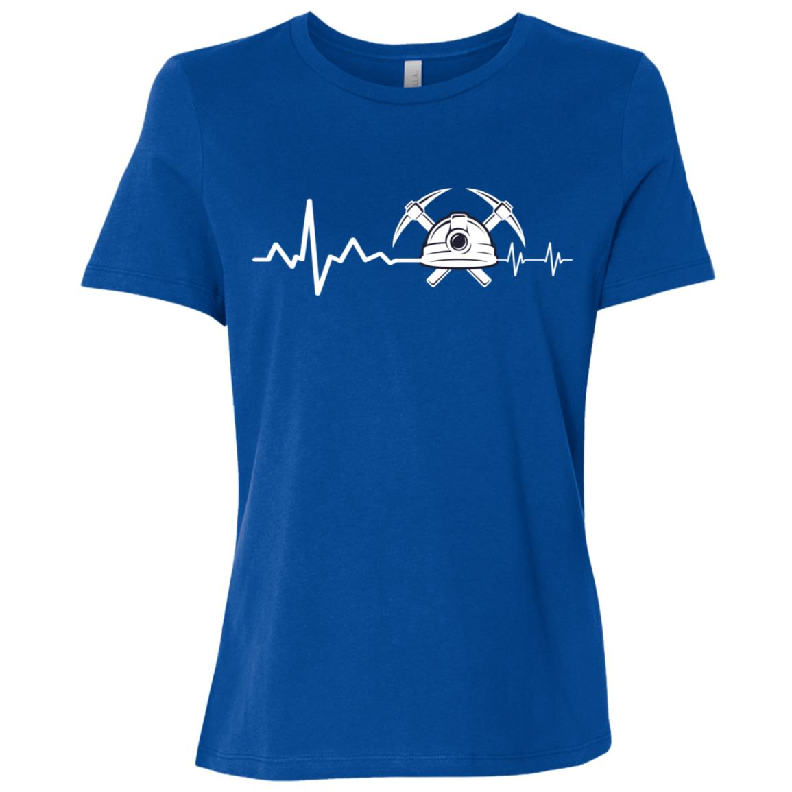 Geologist Heart Beat Hammer Rock Lover Gift Women Short Sleeve T-Shirt