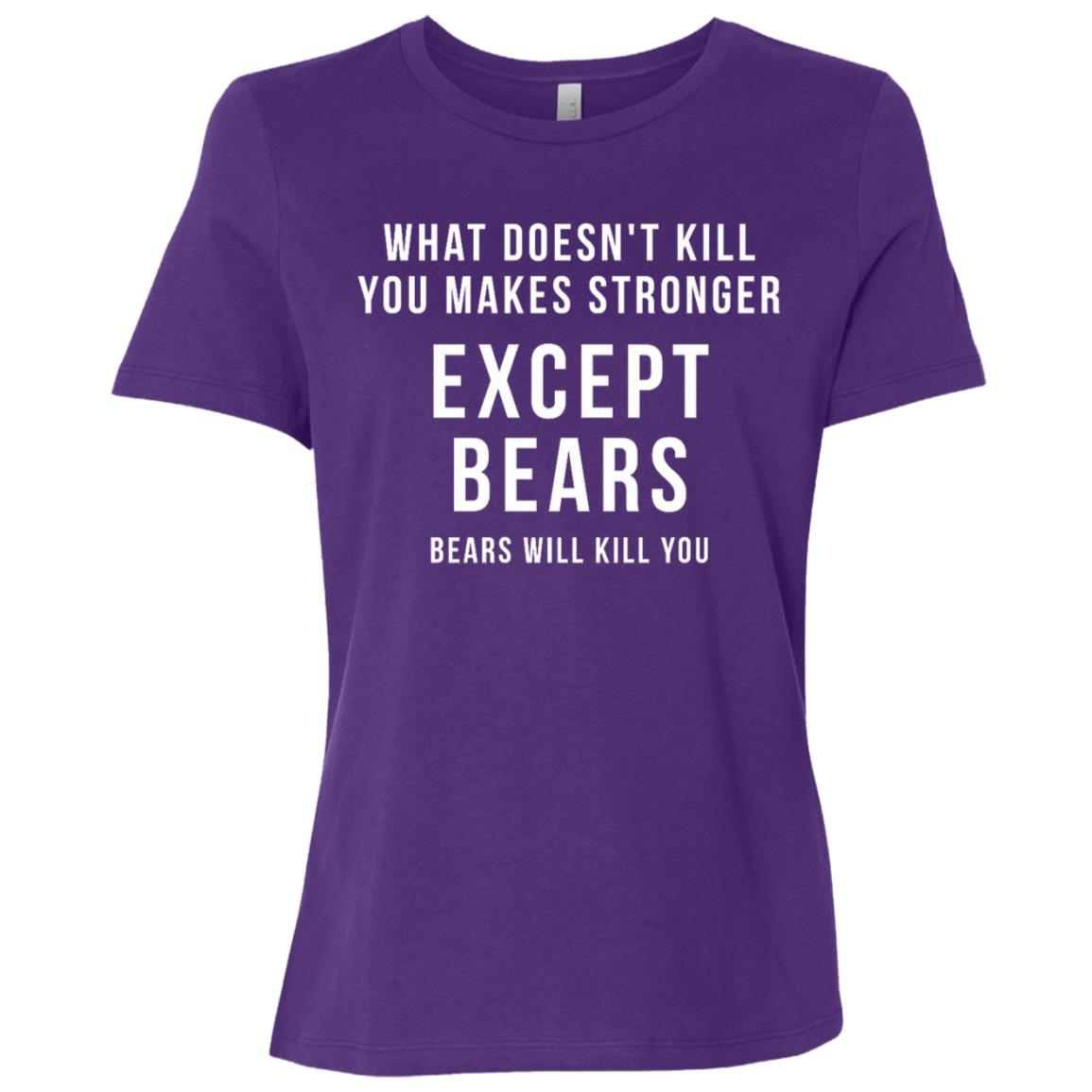 Funny Hunting Gift – What doesn't kill you Women Short Sleeve T-Shirt