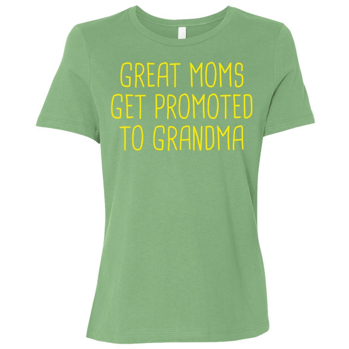 Great Moms Get Promoted To Grandma Nana-1 Women Short Sleeve T-Shirt