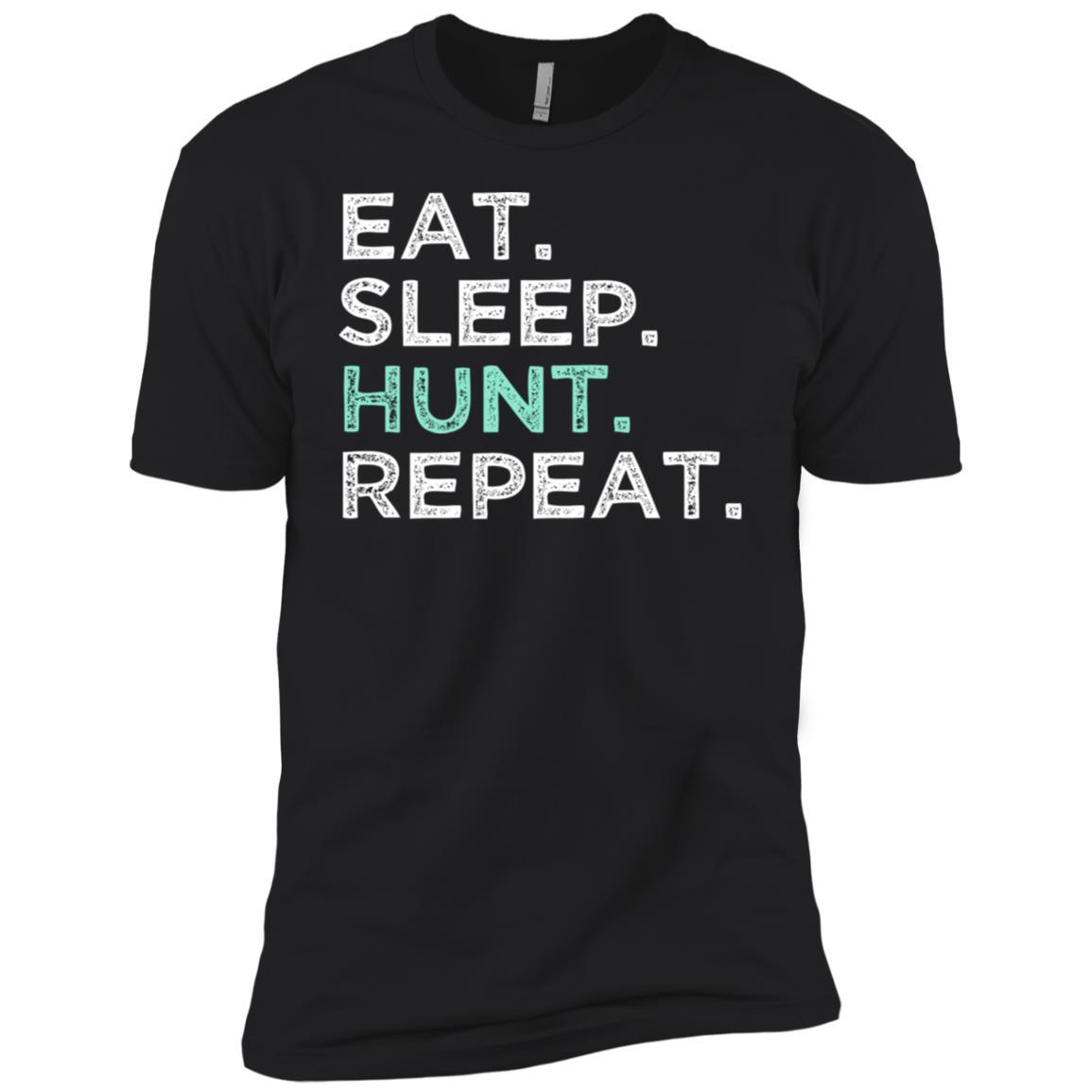 Eat Sleep Hunt Repeat. Funny Hunting Men Short Sleeve T-Shirt