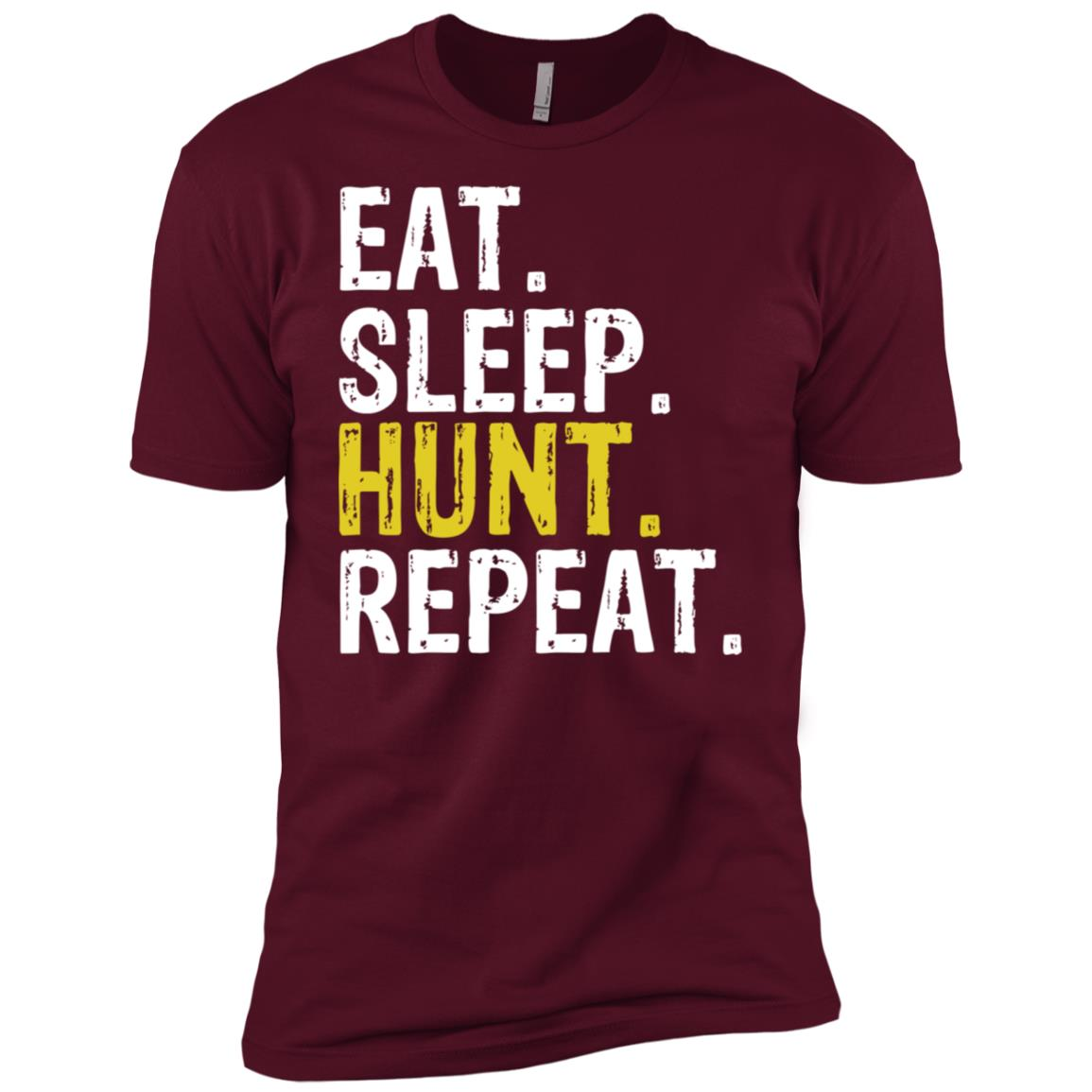 Eat Sleep Hunt Repeat Hunting Hunter Gift Men Short Sleeve T-Shirt